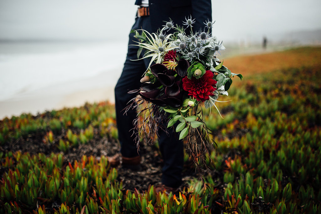 half moon bay elopement photography