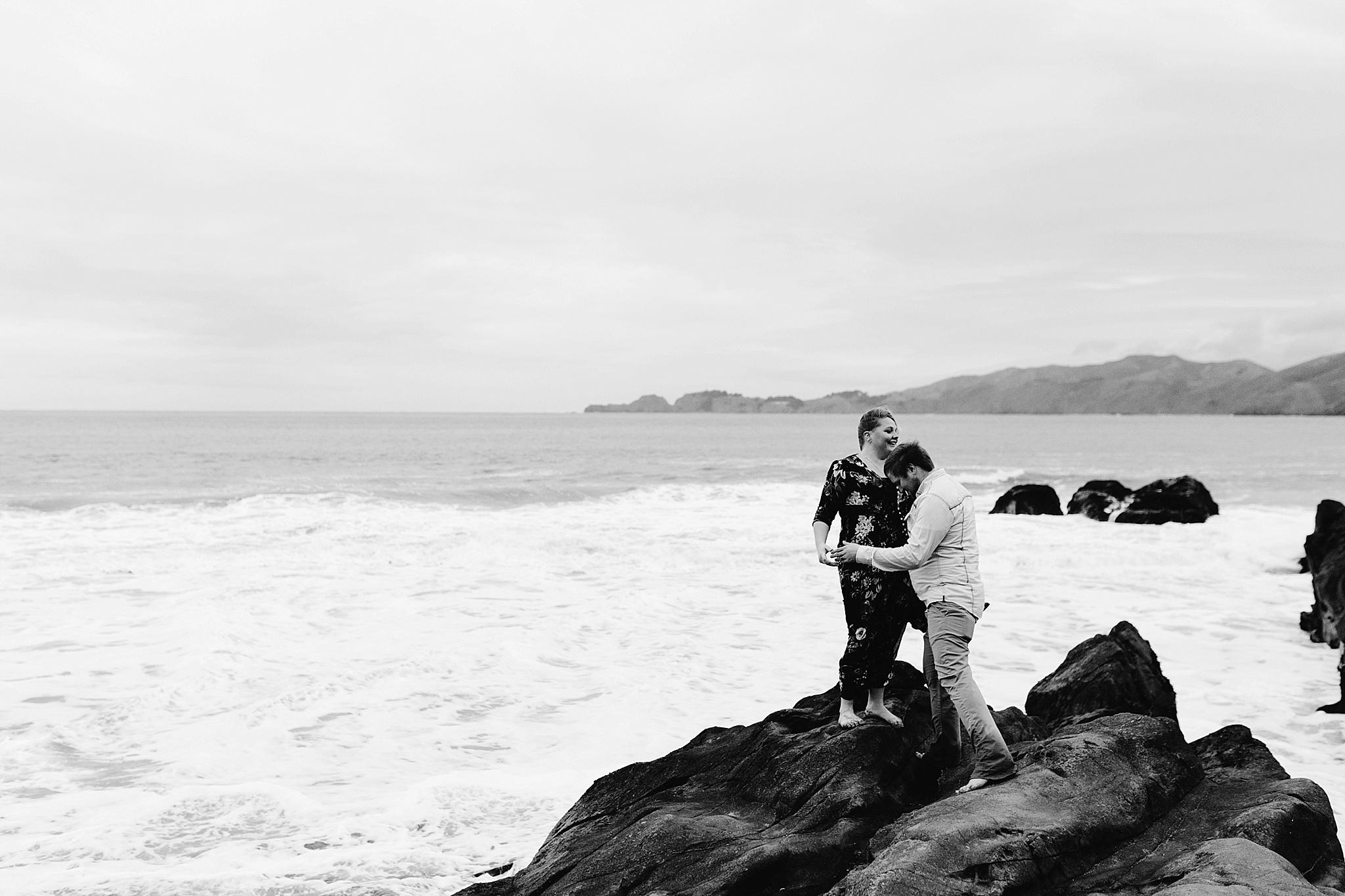 San Francisco baker beach engagement session