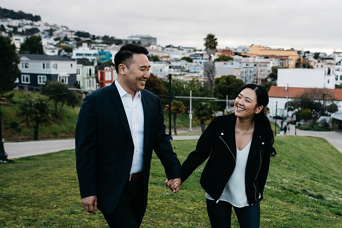 Mission Dolores Park Engagement photo, Twin Peaks Engagement photos, SF Engagement photography, San Francisco Engagement Session, San Francisco Engagement Session Location
