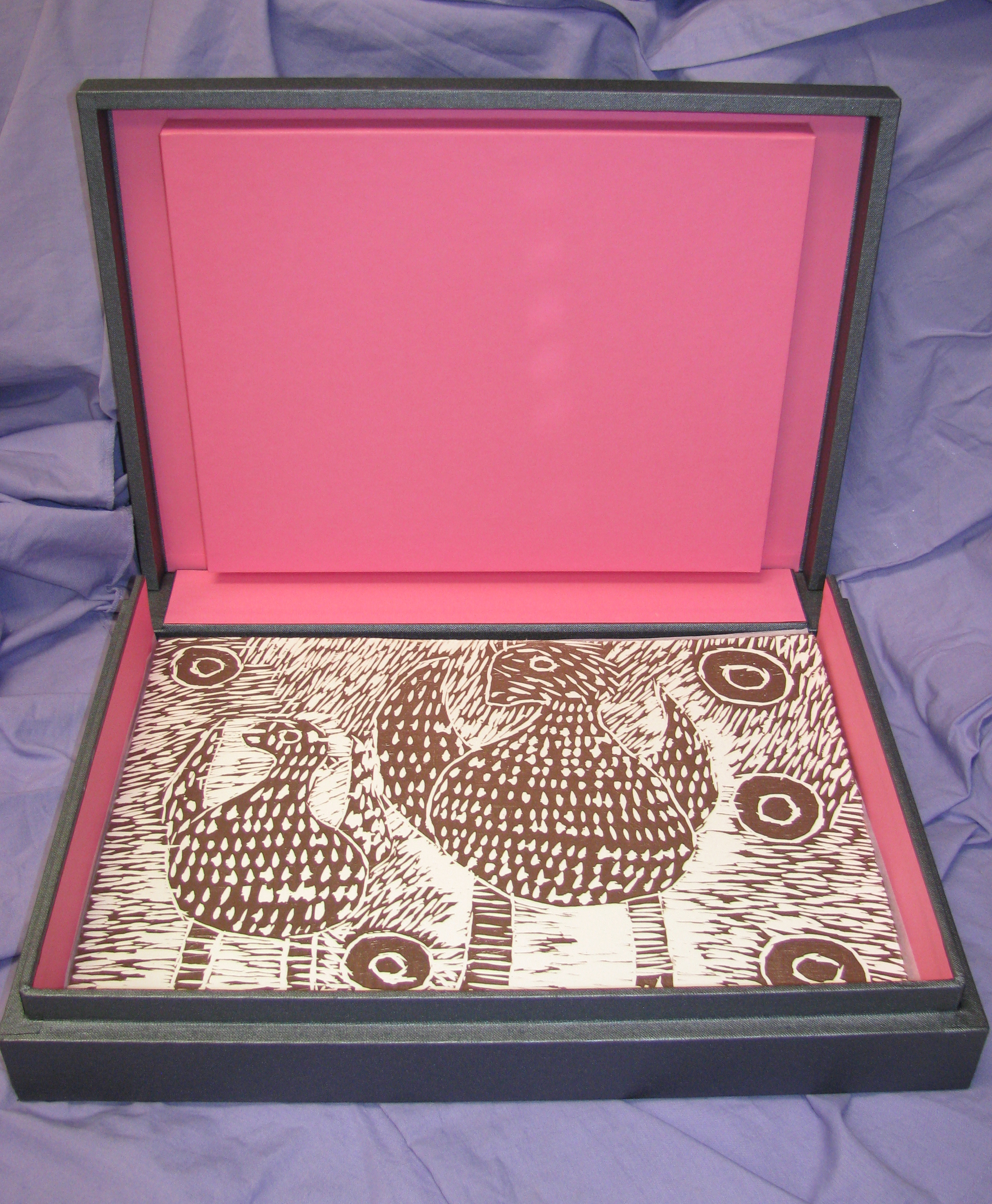 Presentation box for Desert Mob Folio Set   (40 woodcuts).