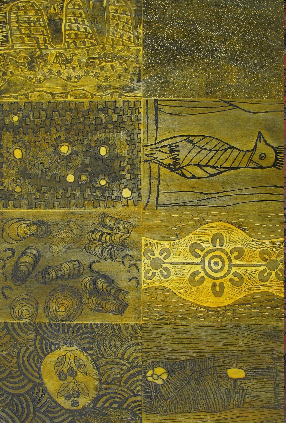 Desert Mob Yellow Panel. 2010