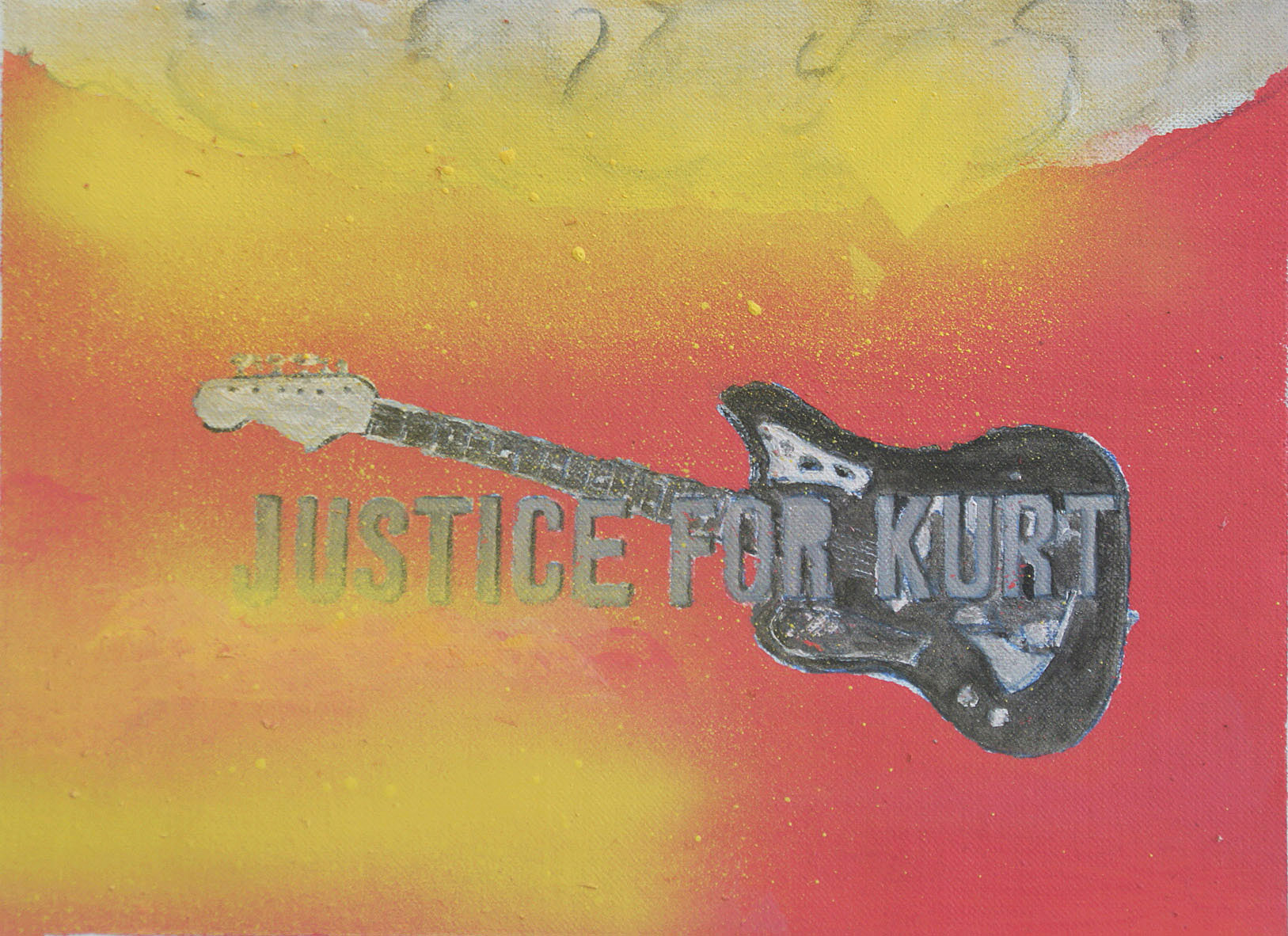 Justice for Kurt 2. 2016 acrylic on canvas 15 x 20 cm