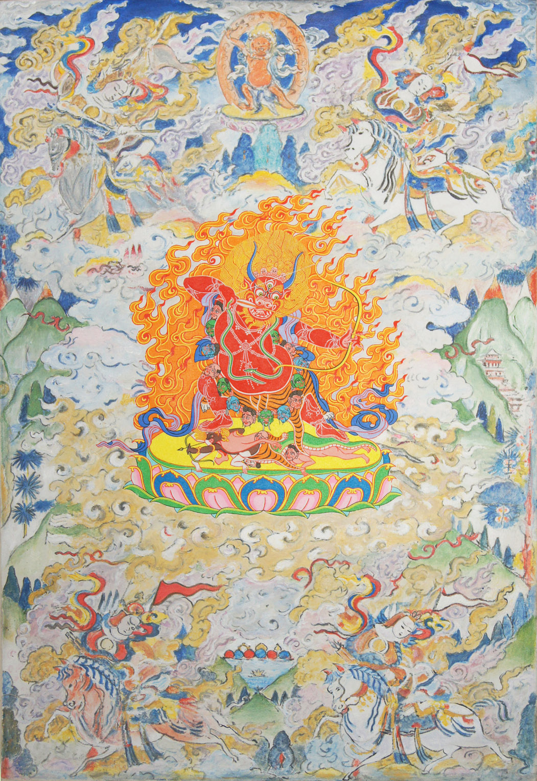 Vajrabhairava. 2016 with Daniel Bogunovic acrylic on canvas 61 x 91 cm $4,000