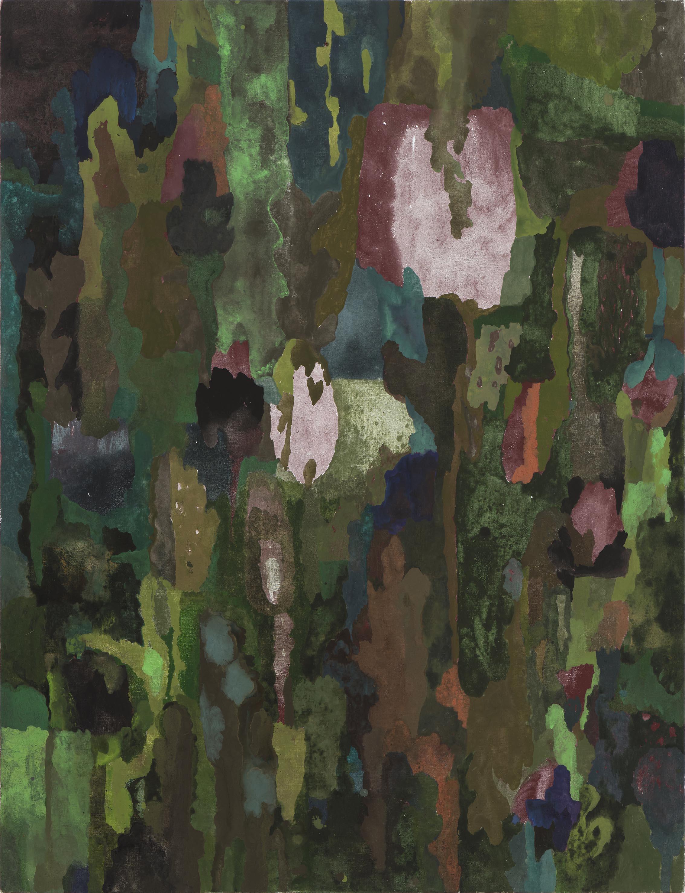 Dark blooms. 2017.  acrylic on linen  130 x 96 cm. $6,000
