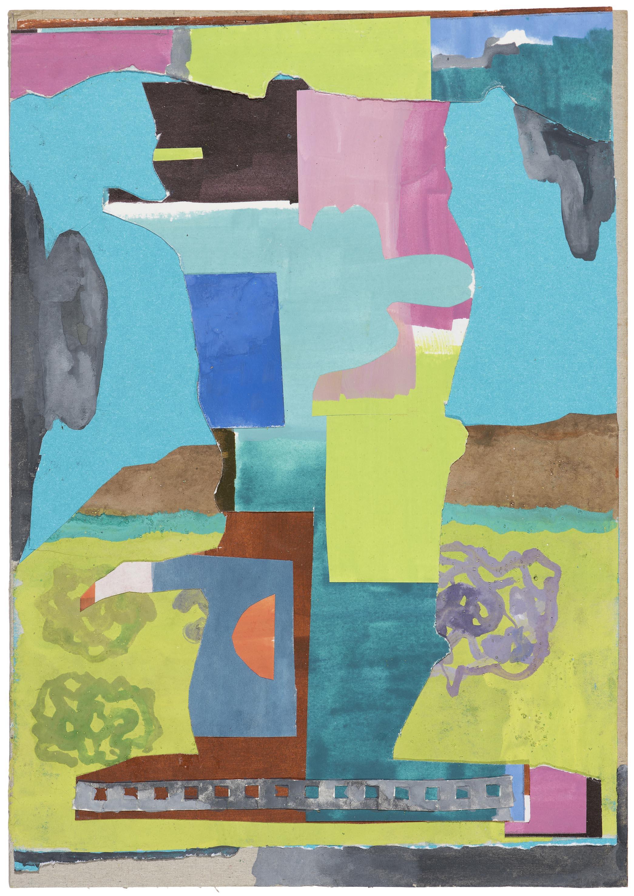 Tree. 2015. gouache collage.  37 x 28.5 cm. $900