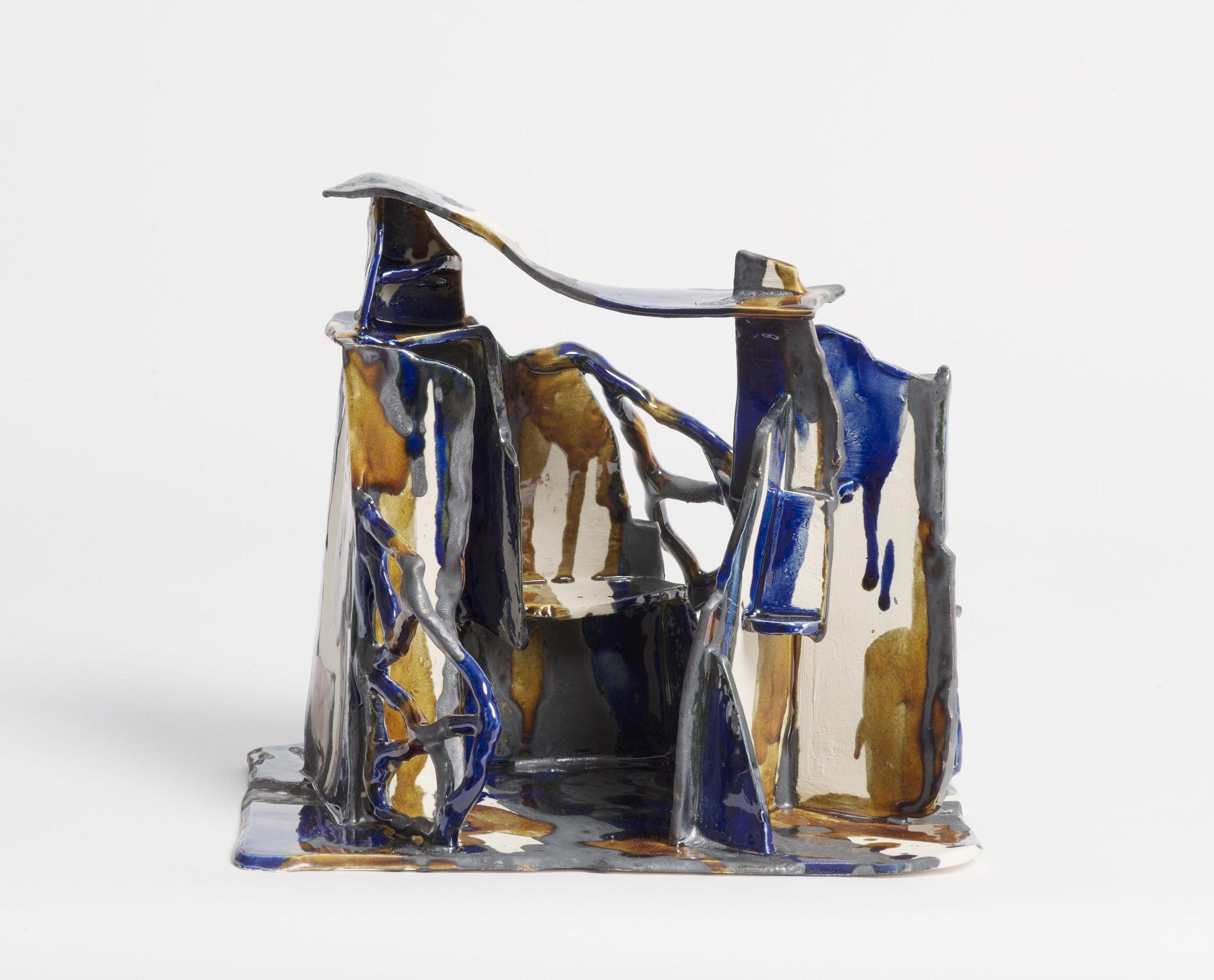 Mountain retreat.  2017.   Earthenware, glazed ceramic. 22x16x19.5 cm.$750