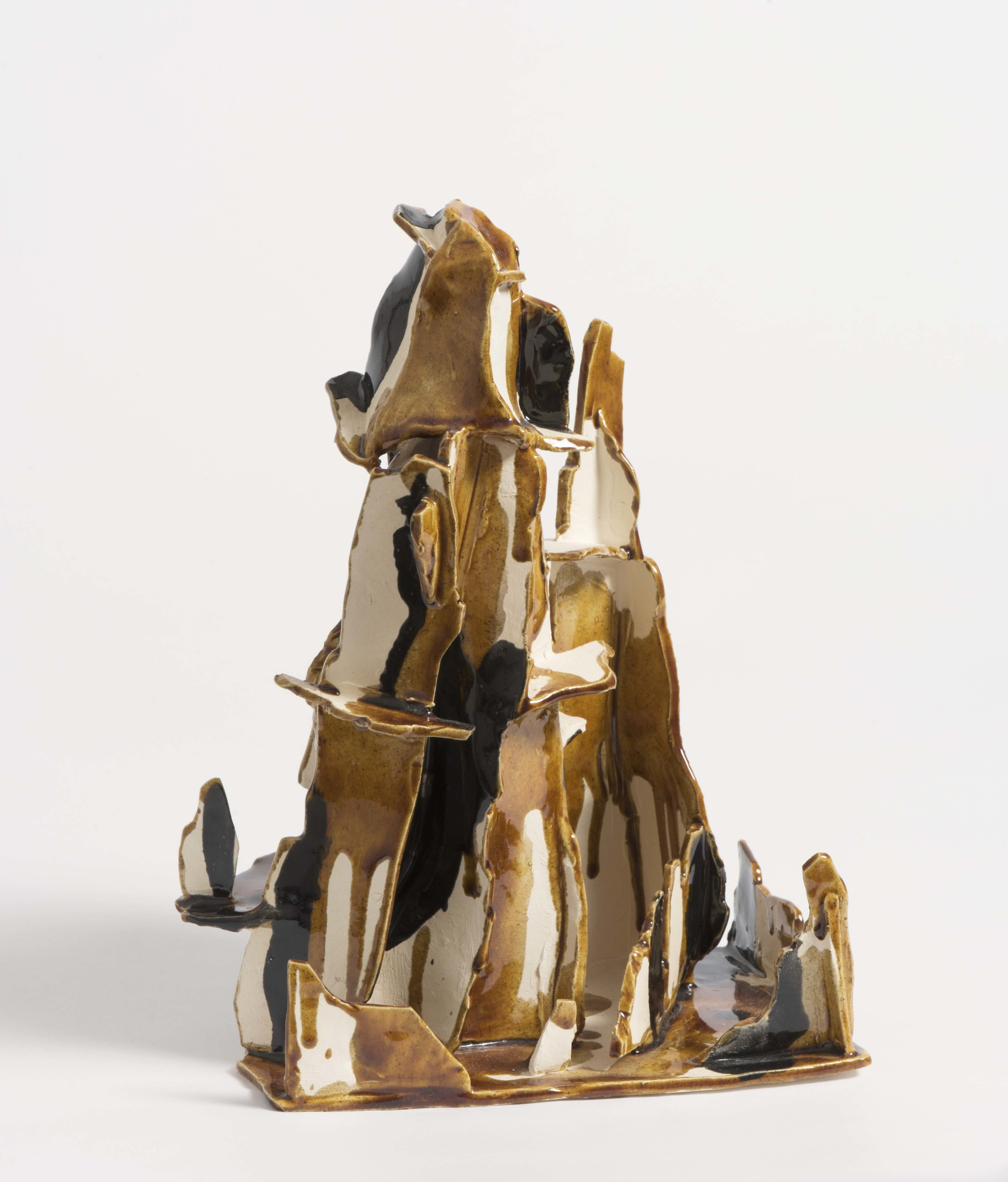 Mountain in black and amber. 2016. Earthenware, glazed ceramic.  17 x 13 x 25 cm.SOLD