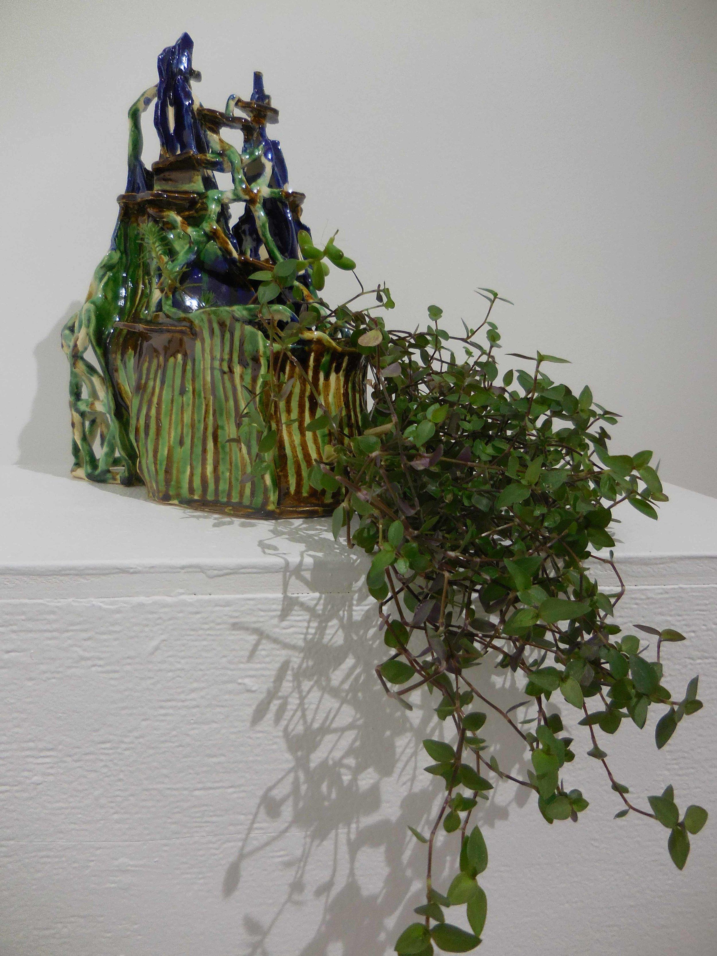Mountain nest. 2016.  Earthenware, glazed ceramic. 30 x15 x 27 cm $800