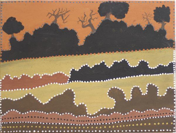 Rusty Peters,  Billimack Spring. 2015. Natural ochres and pigments on canvas. 45 x 60 cm SOLD