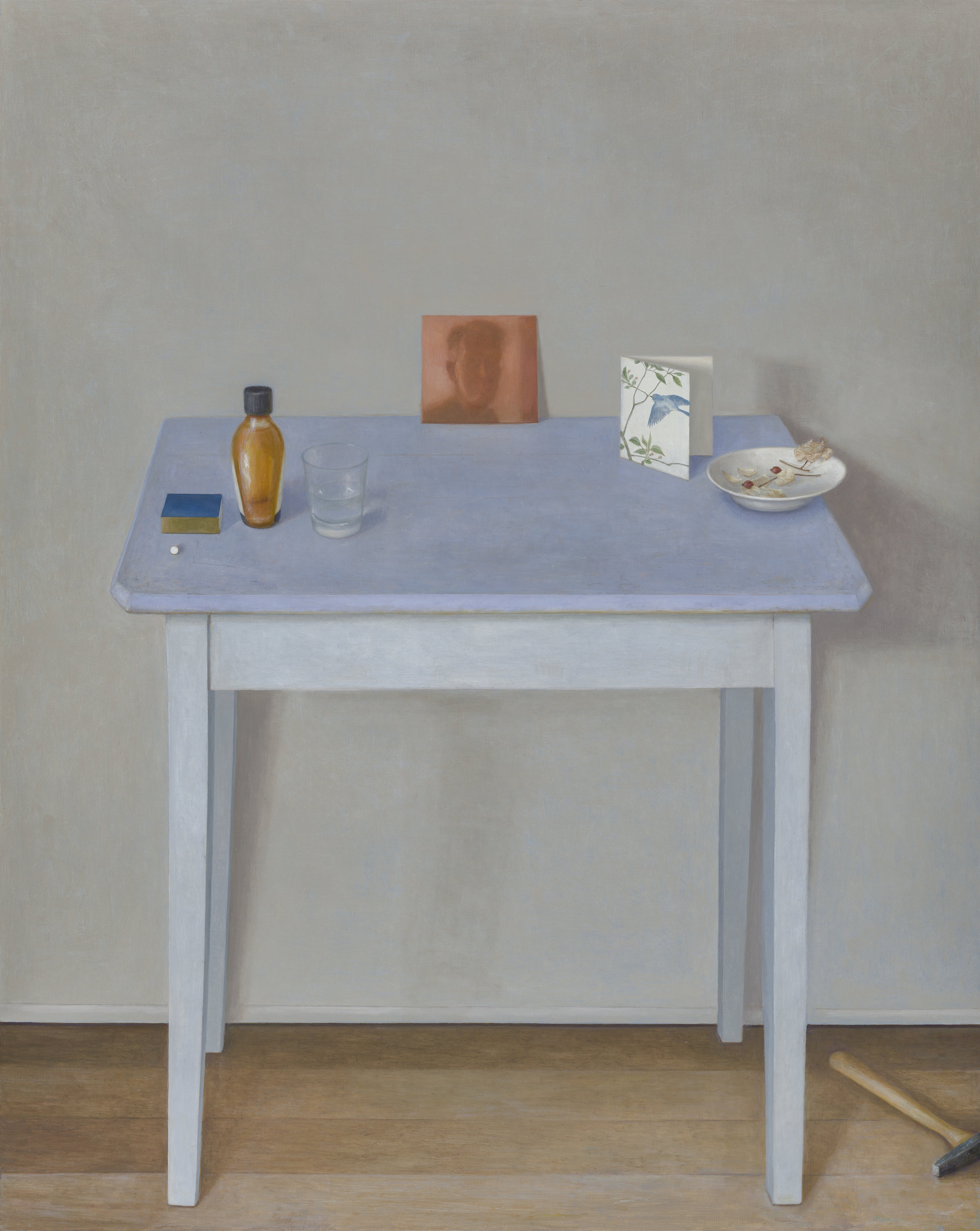 Table with Reflected Portrait  2017 Oil on linen 127x97cm $14,000