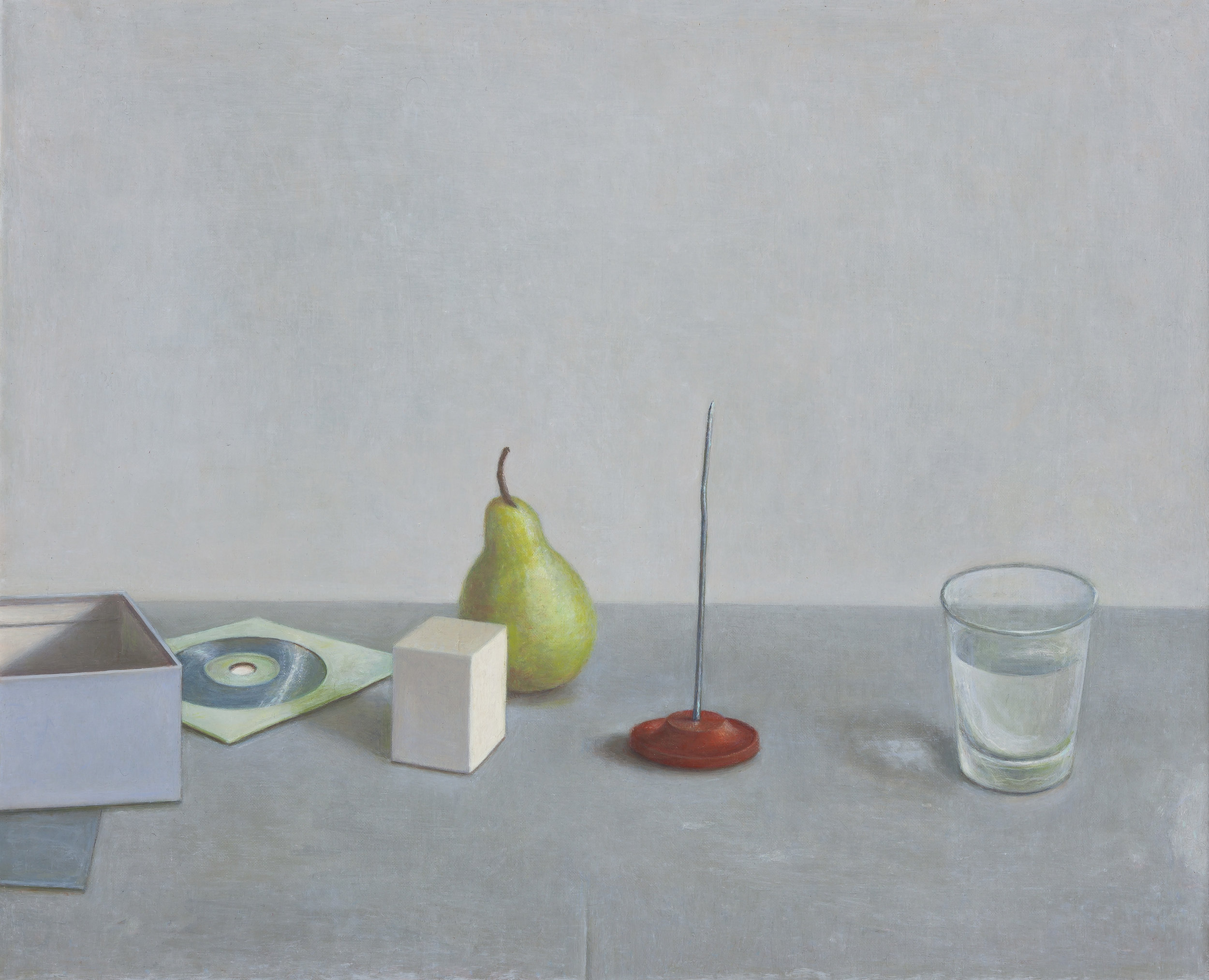 Still Life with Pear and Spike  2016  Oil on linen 46 x 56cm $7,000