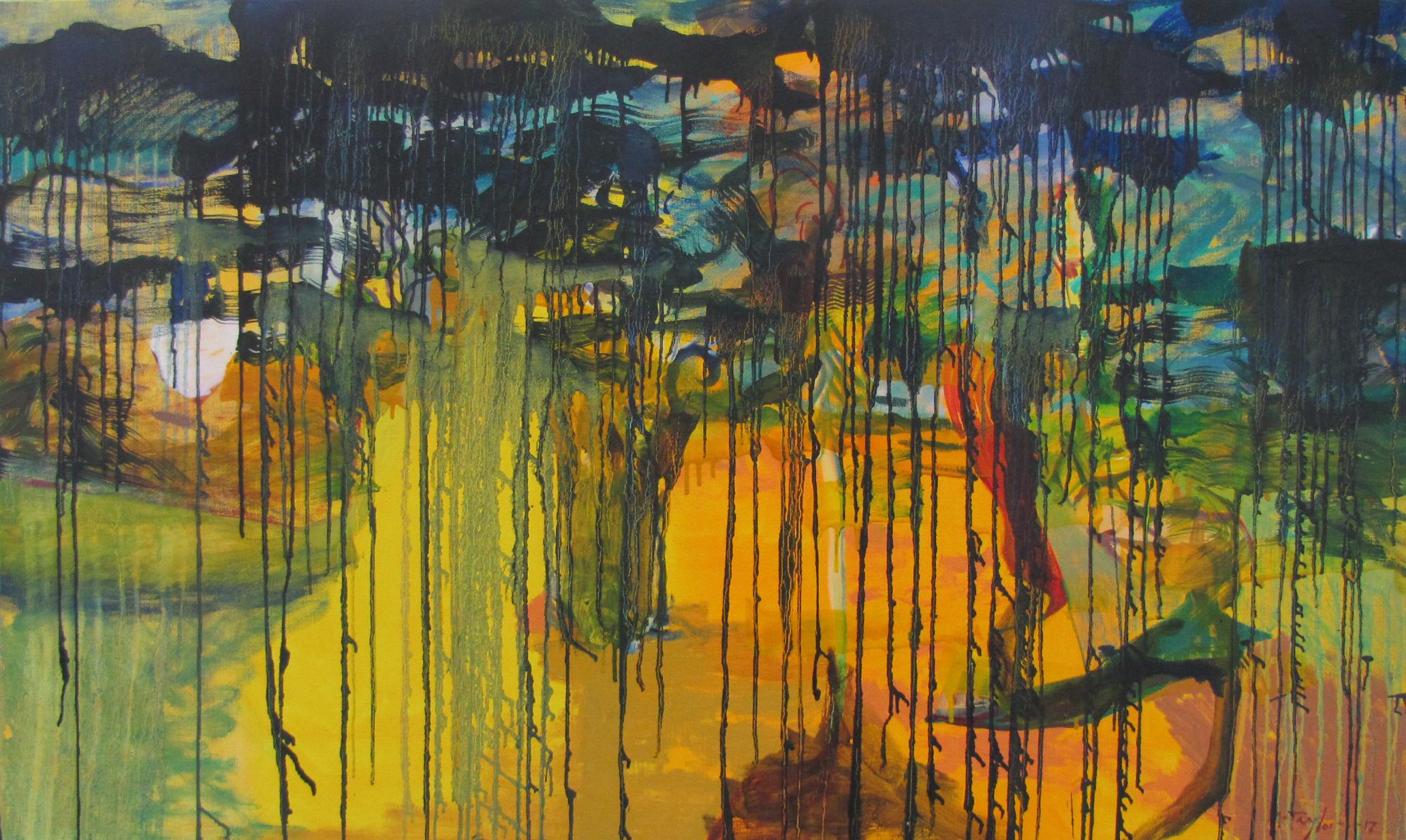 Coast at Eden.  2017. Oil on linen 91 x 152 cm $ 8,500