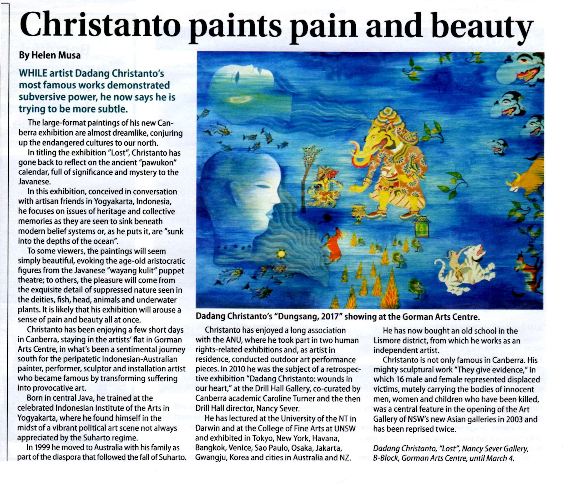NSG. Christanto exhibition. City News review 8feb18.jpg