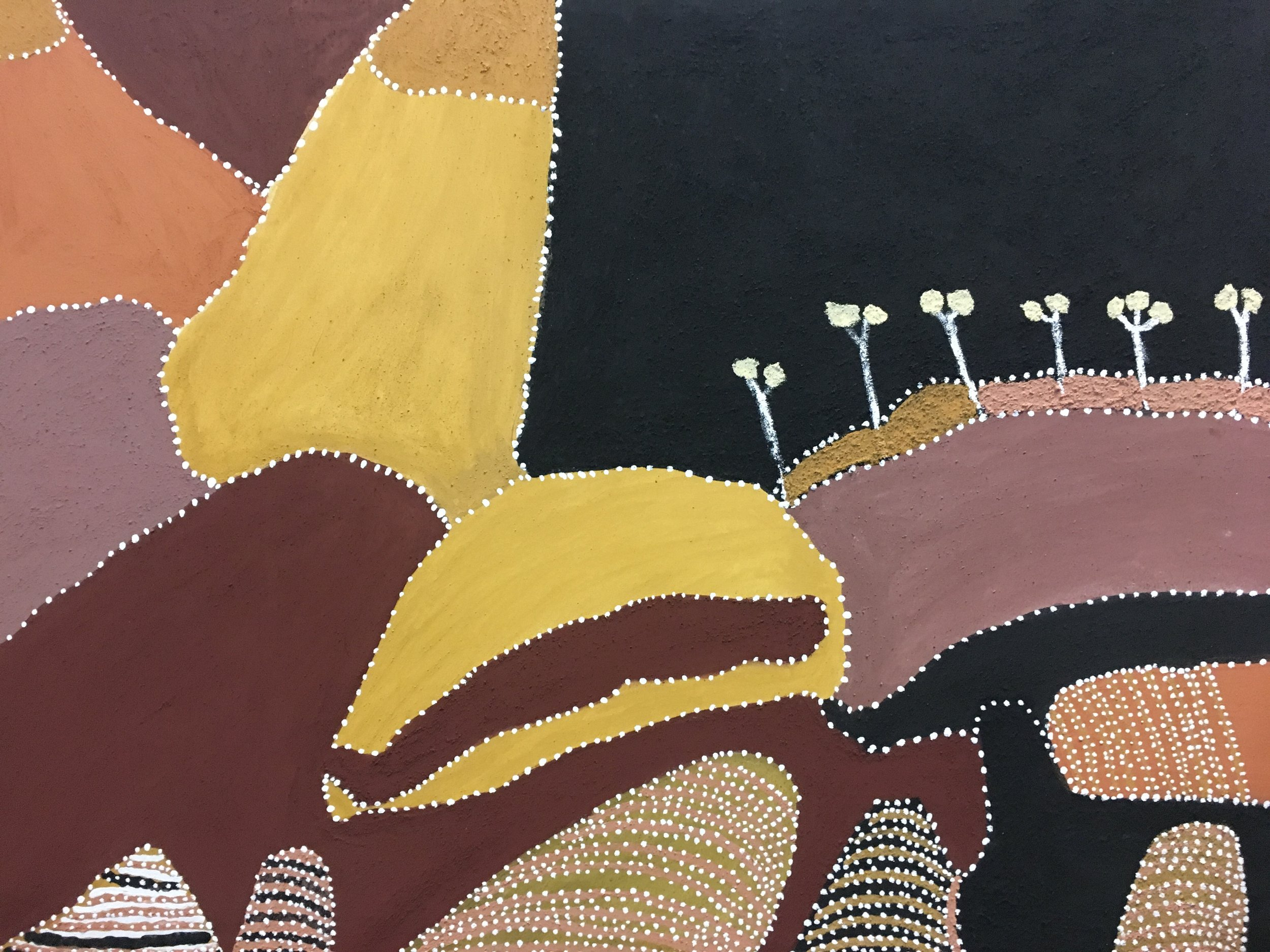 Patrick Mung Mung, Ngarrgooroon.  2010. Natural ochre and pigment on canvas. 90 x 120 cm  $7,200 SOLD