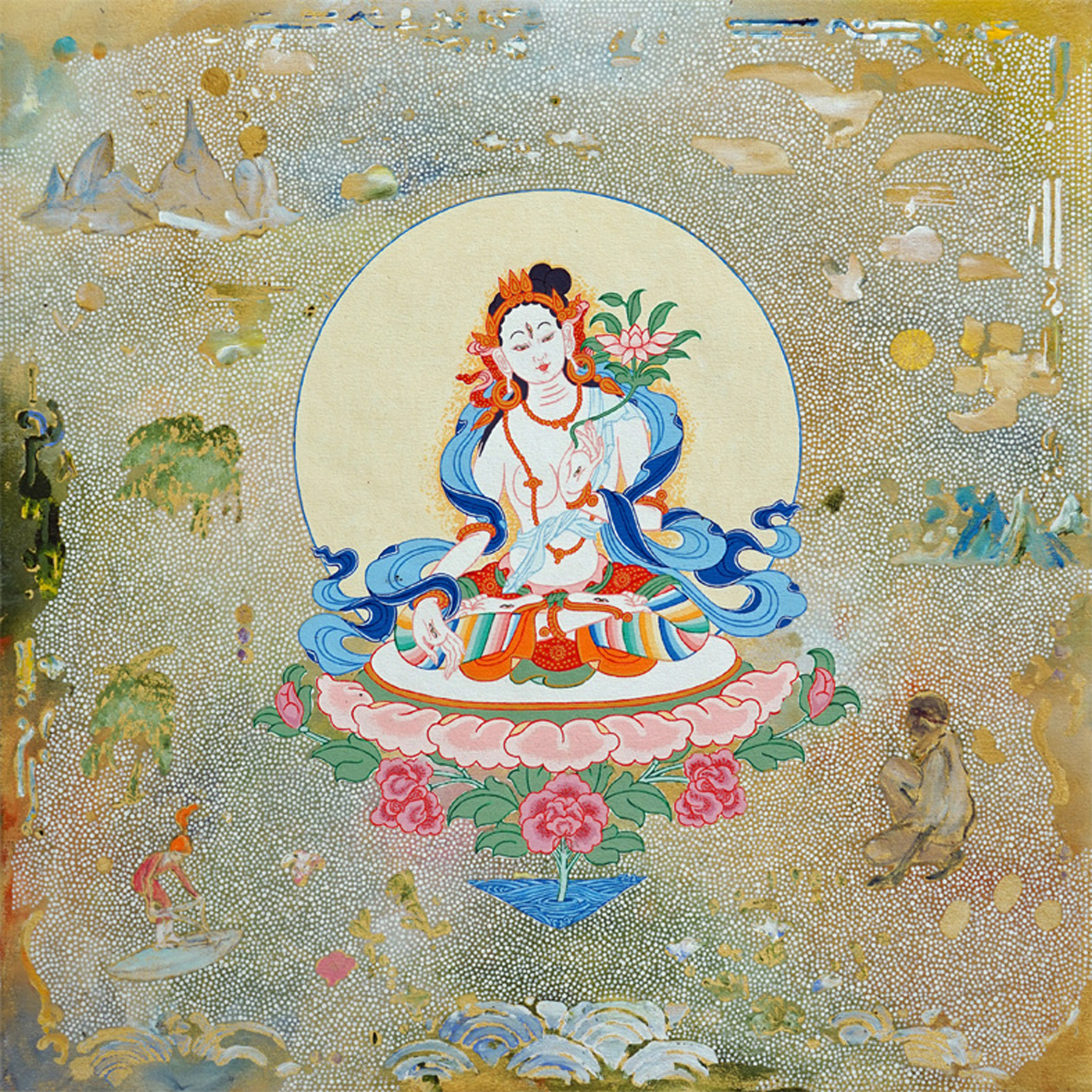 White Tara. 2018. with Daniel Bogunovic. Acrylic on canvas. 60 x 60 cm $ 2,000 SOLD