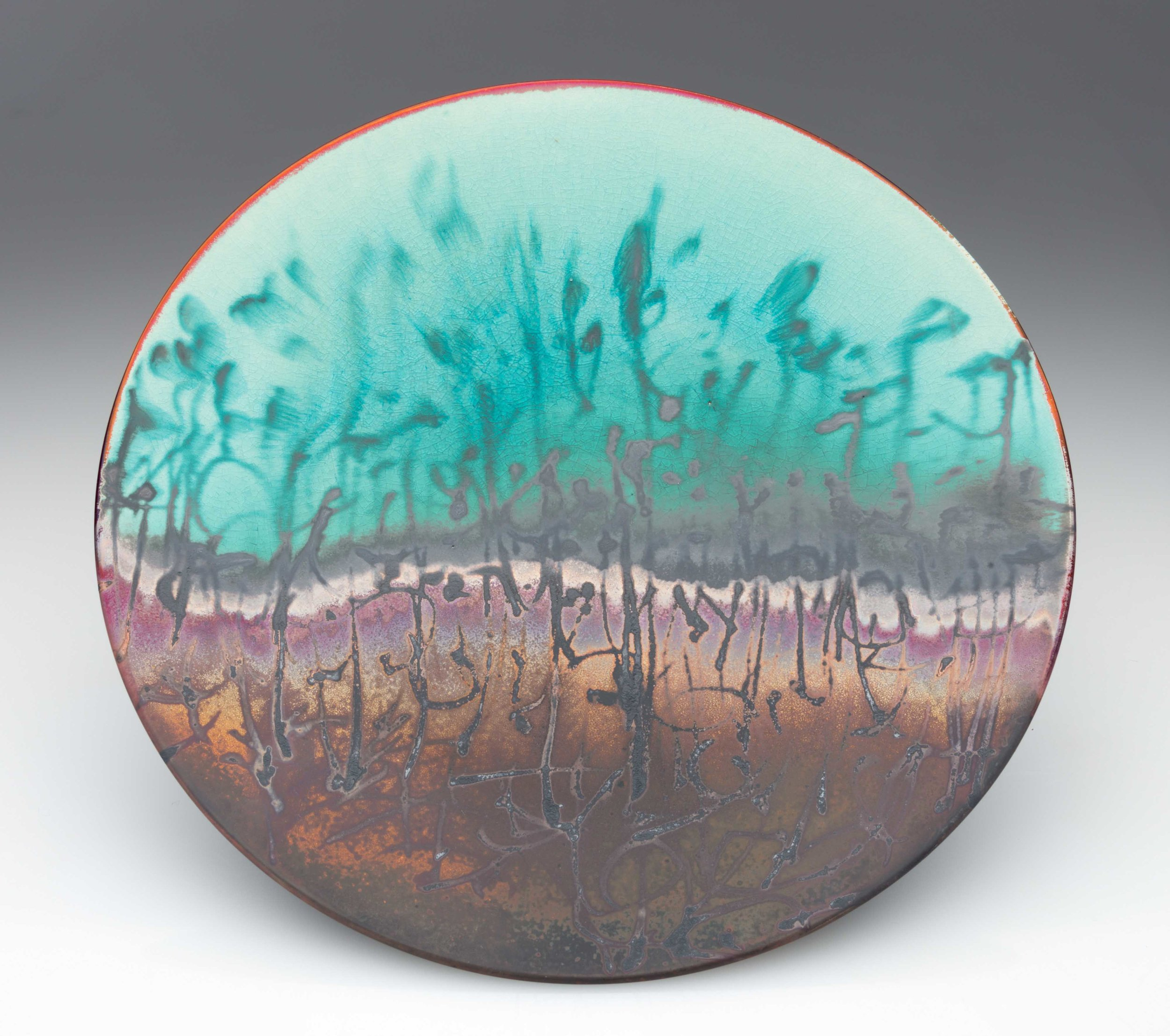 Sunset grasses. 2018. 45 mm H, 370 mm Dia. $460 SOLD