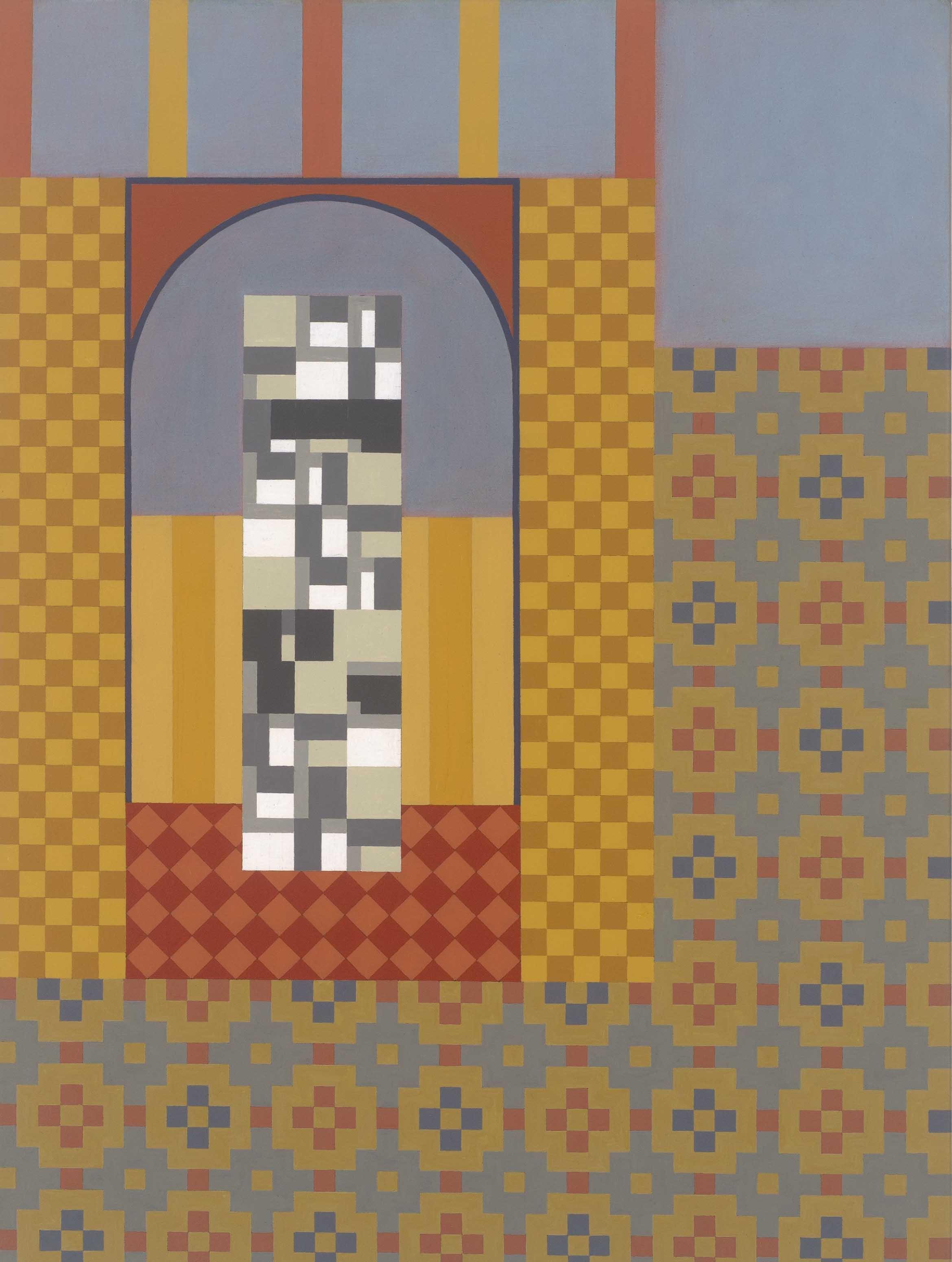 Origin of Reason, 2017. acrylic on canvas, 60.5 x 45.5cm, $3,300