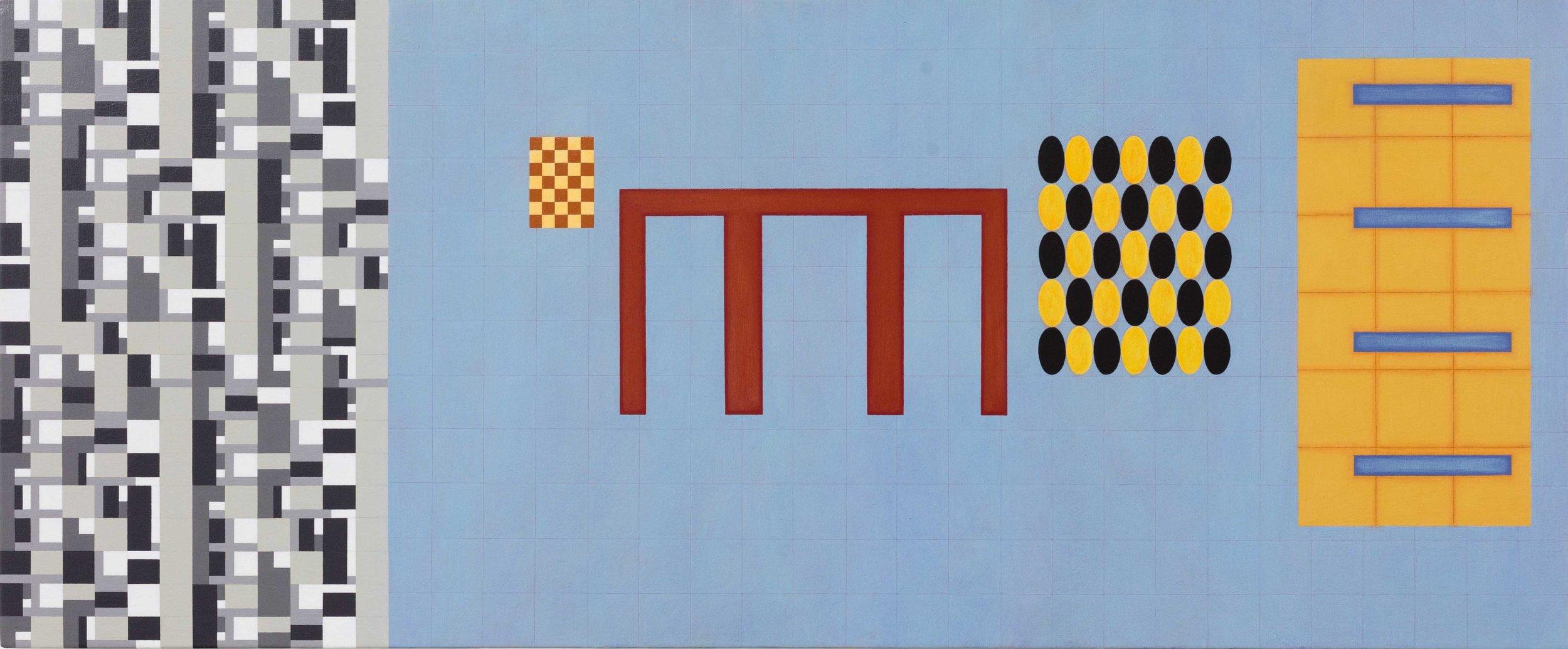 Towards Intuition, 2013. acrylic on canvas, 50.5 x 121.5cm  $5,500.