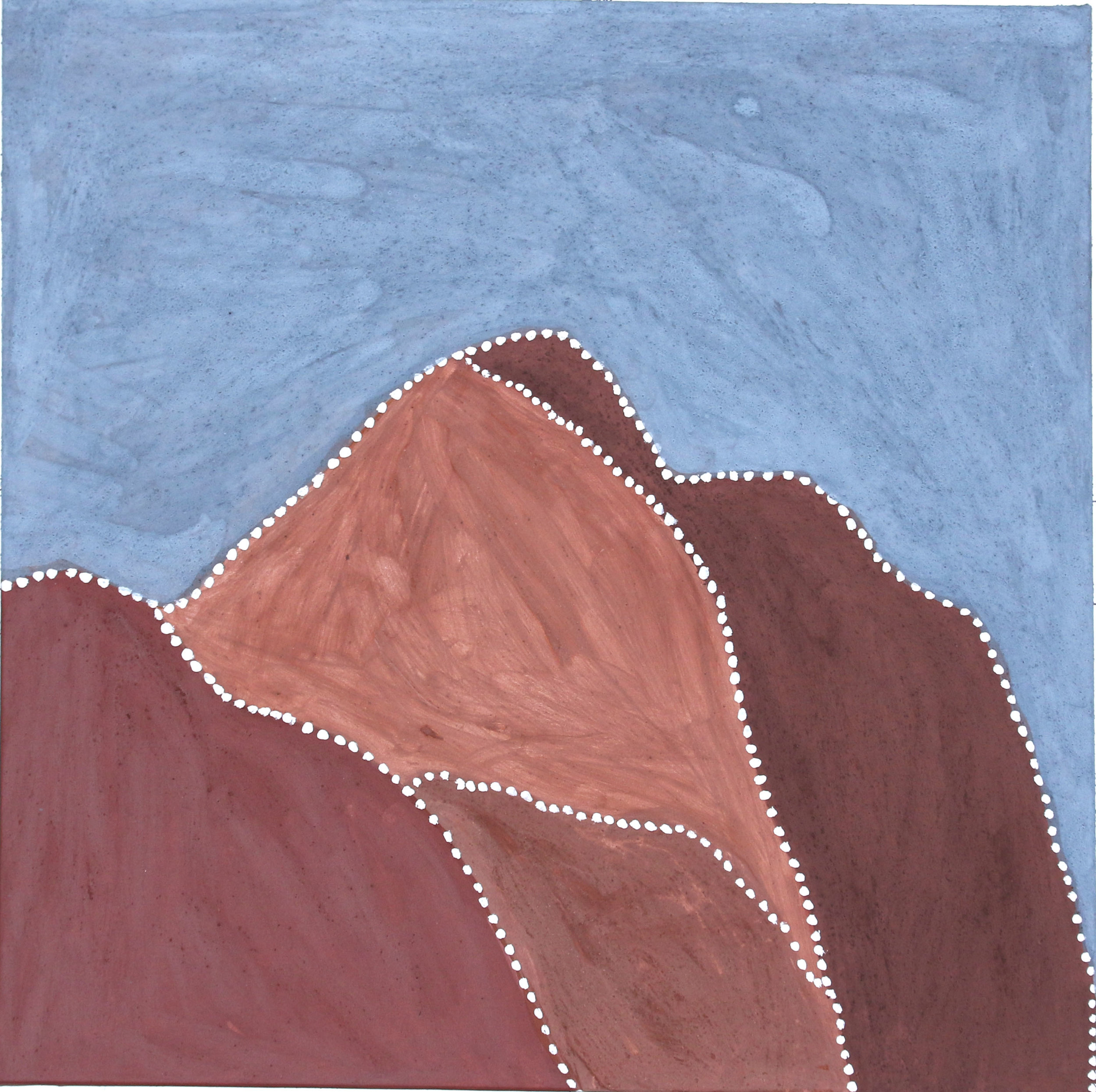 Gordon Barney. Birnoo Country. 2018  natural ochre and pigments on canvas. 90 x 90 cm. $3,000