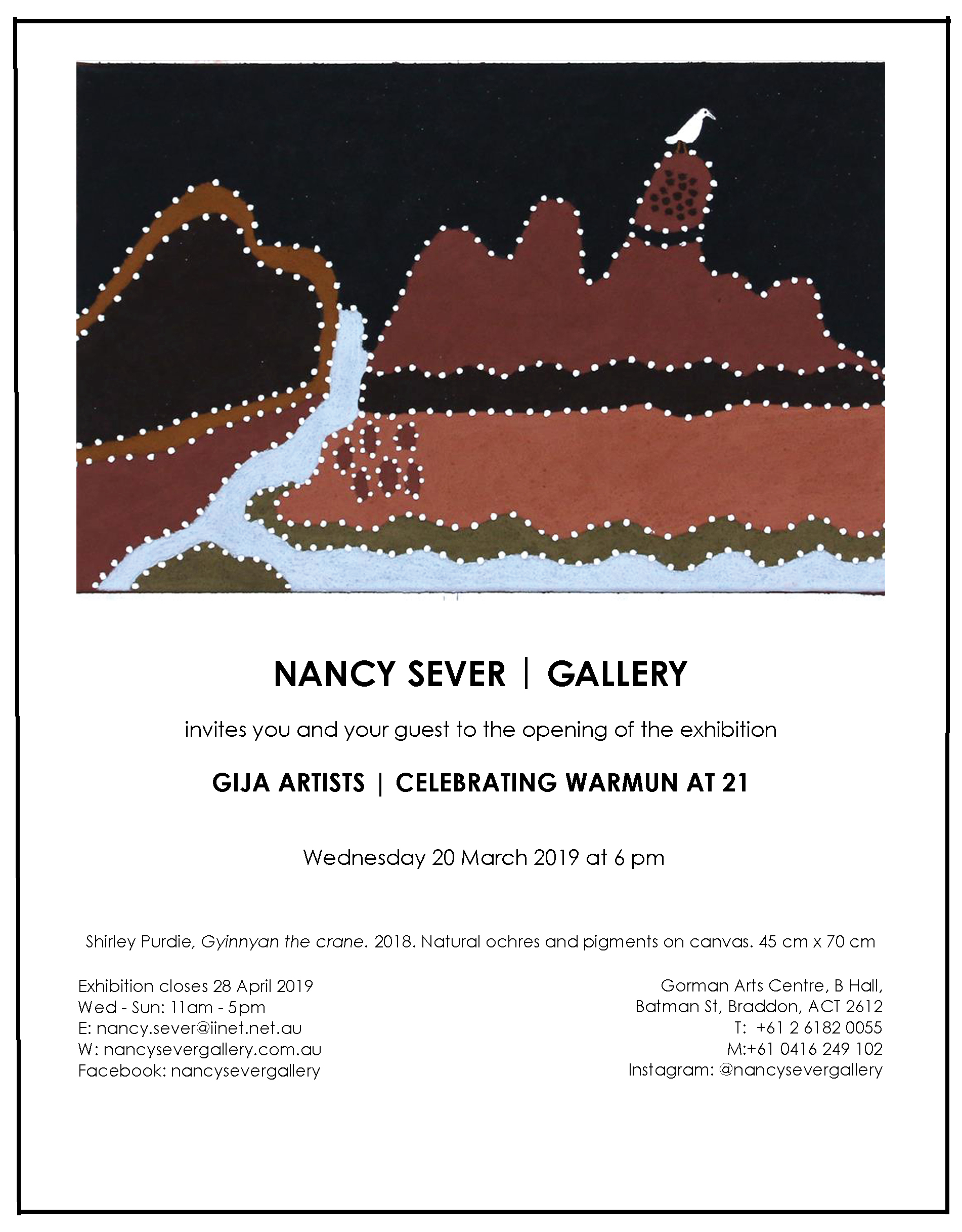 NSG. Gija Artists exhibition email invitation.jpg