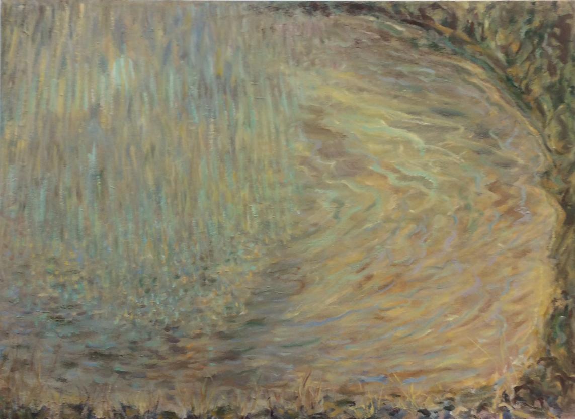Sunshower on the dam. 2013. Oil on canvas. 110 x 150 cm. $12,000