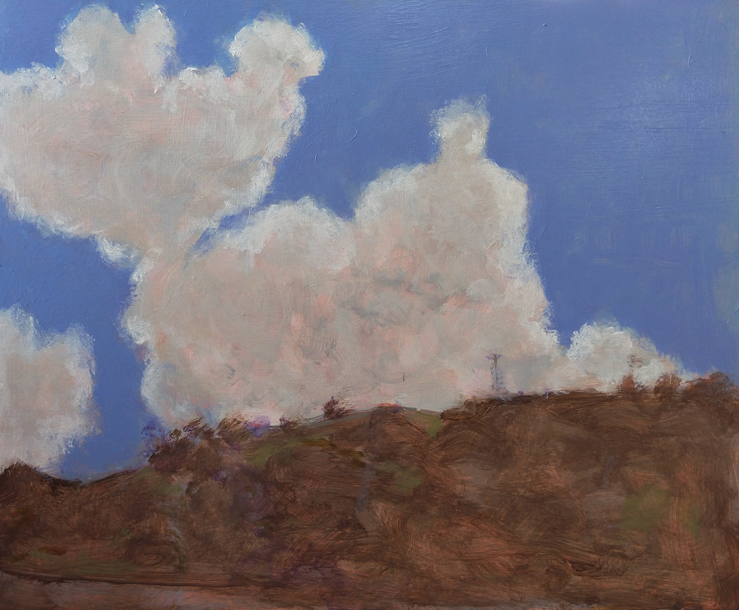 High Cloud. 2019. Acrylic on birch wood panel. 50 x 60 cm.$3,500