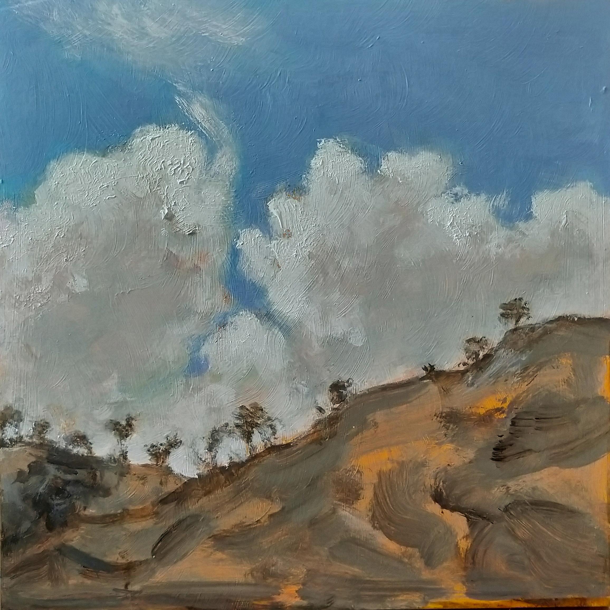 High Hill. 2019. Acrylic on birch wood panel. 30 x 30 cm. $2,400