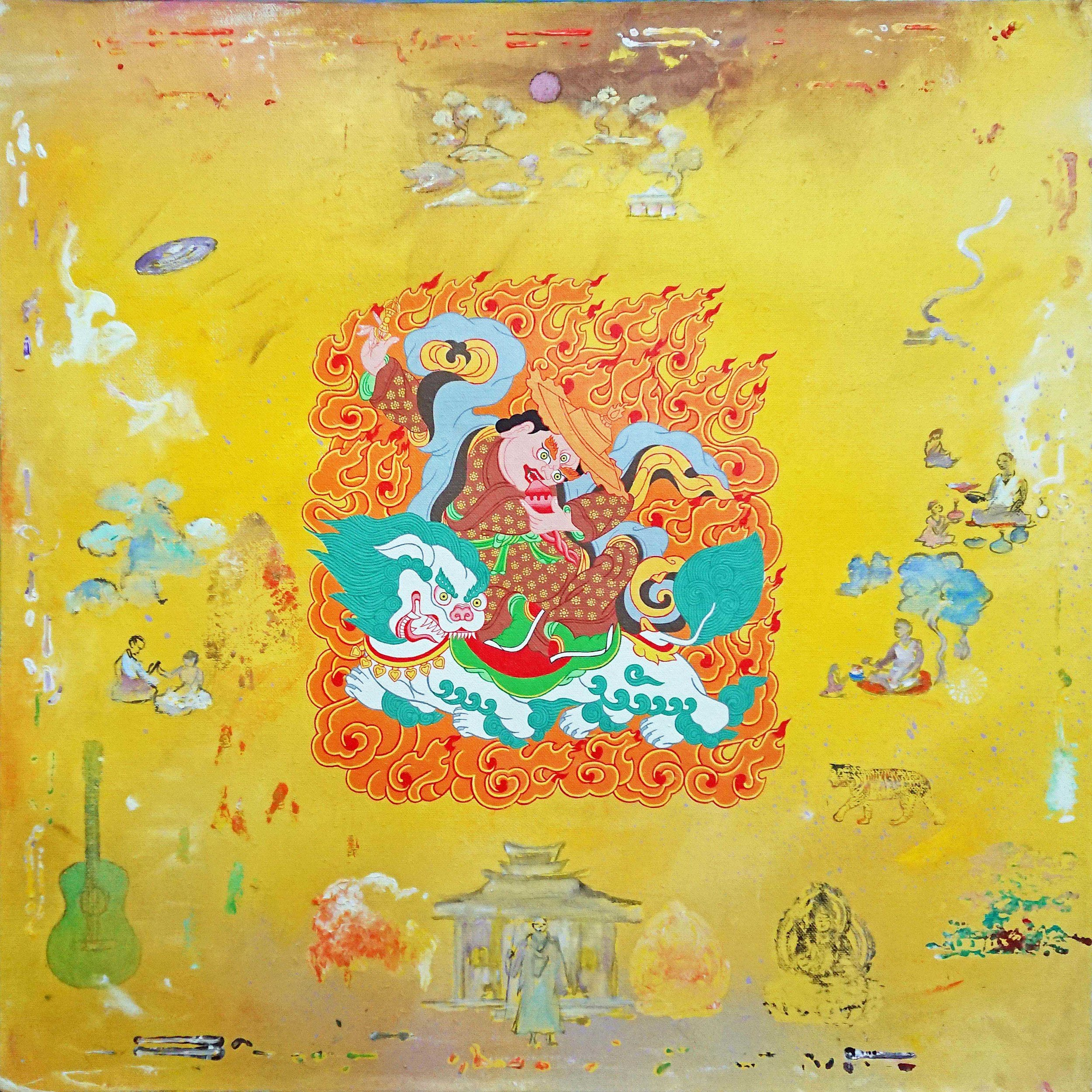 Dorje Lepa. 2019. Acrylic on canvas (with Daniel Bogunovic), 60 x 60 cm. $2,000 SOLD
