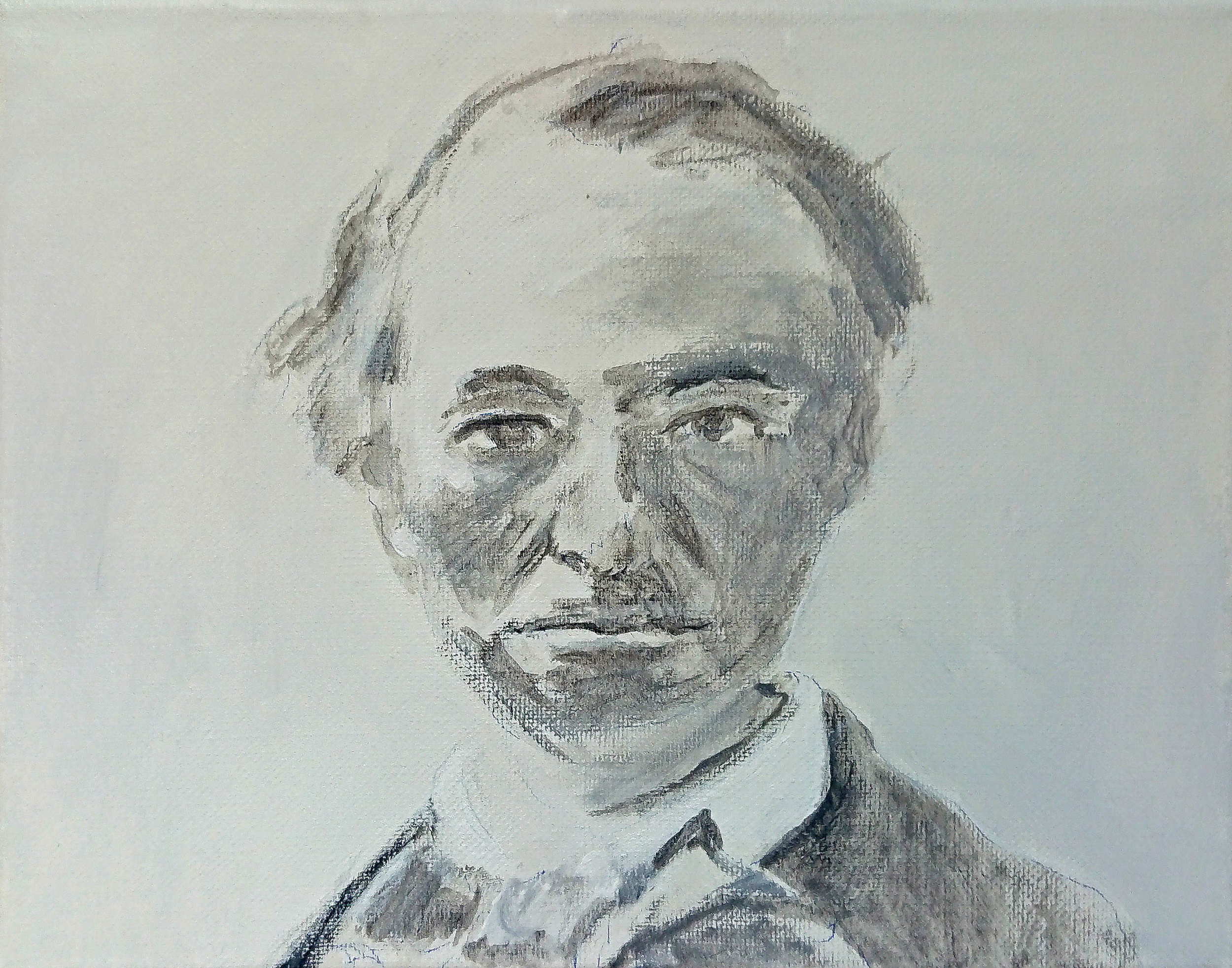 Baudelaire. 2019. Acrylic on canvas 20 x 25 cm. $250 SOLD