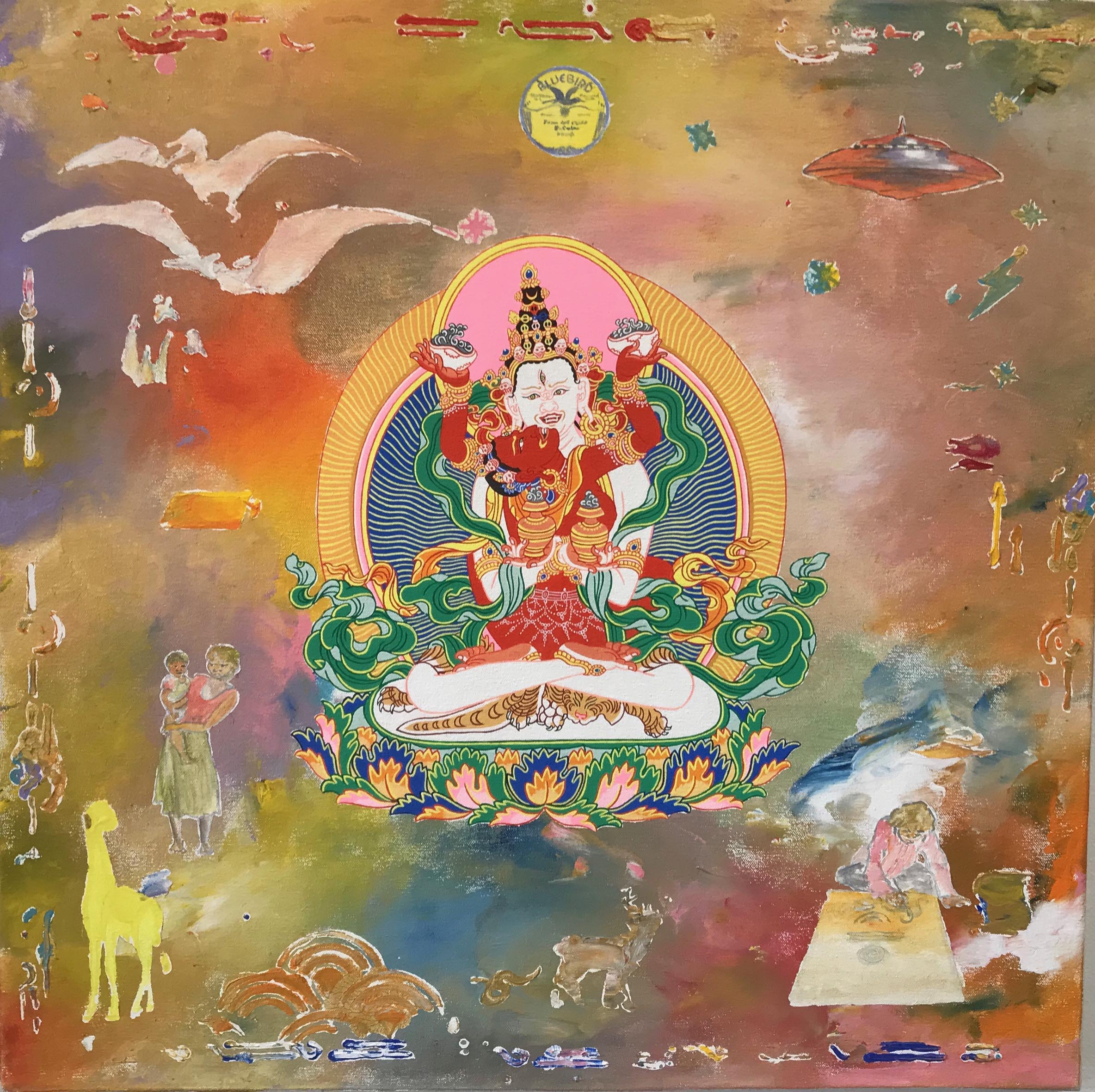 Sitasamvara. 2019. Acrylic on canvas (with Daniel Bogunovic) 60 x 60 cm $2,000 SOLD