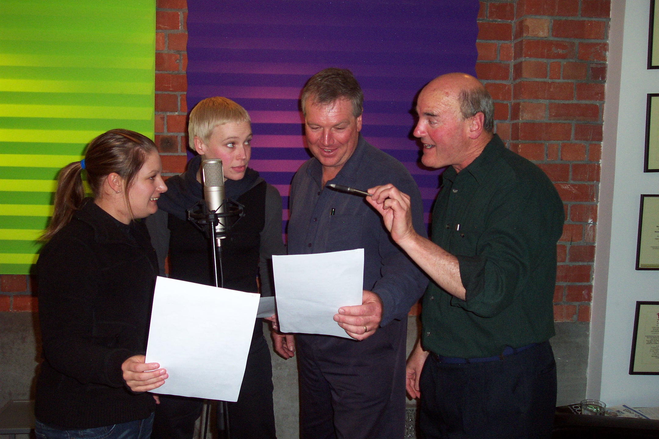 The very first Voice Academy in 2005, with Ron Rodger teaching voice acting