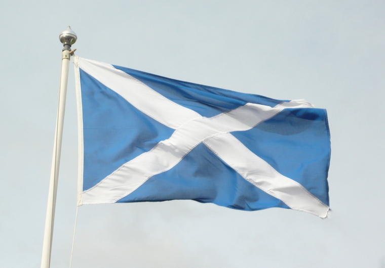 By flickrtickr2009 (Scottish Flag Uploaded by Smooth_O) [CC-BY-2.0 (http://creativecommons.org/licenses/by/2.0)], via Wikimedia Commons