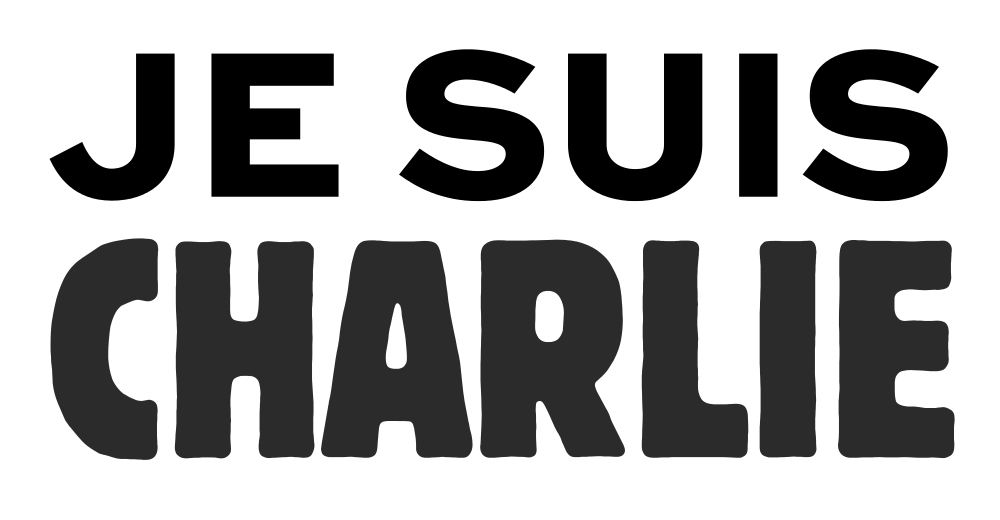 By Joachim Roncin (proof), Charlie Hebdo (charliehebdo.fr) Typefaces authors: Mark van Bronkhorst (Sweet Sans Heavy), H. Hoffman/H. Berthold (Block Condensed) (Joachim Roncin's tweet, PDF adapted to SVG.) [CC0], via Wikimedia Commons.