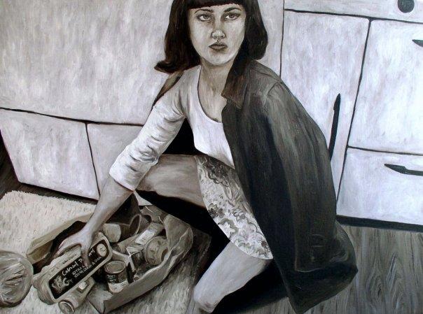 self portrait as Cindy Sherman 1