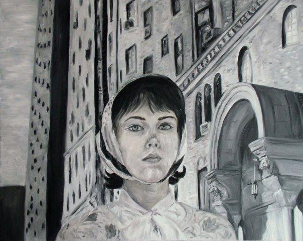 self portrait as Cindy Sherman 6