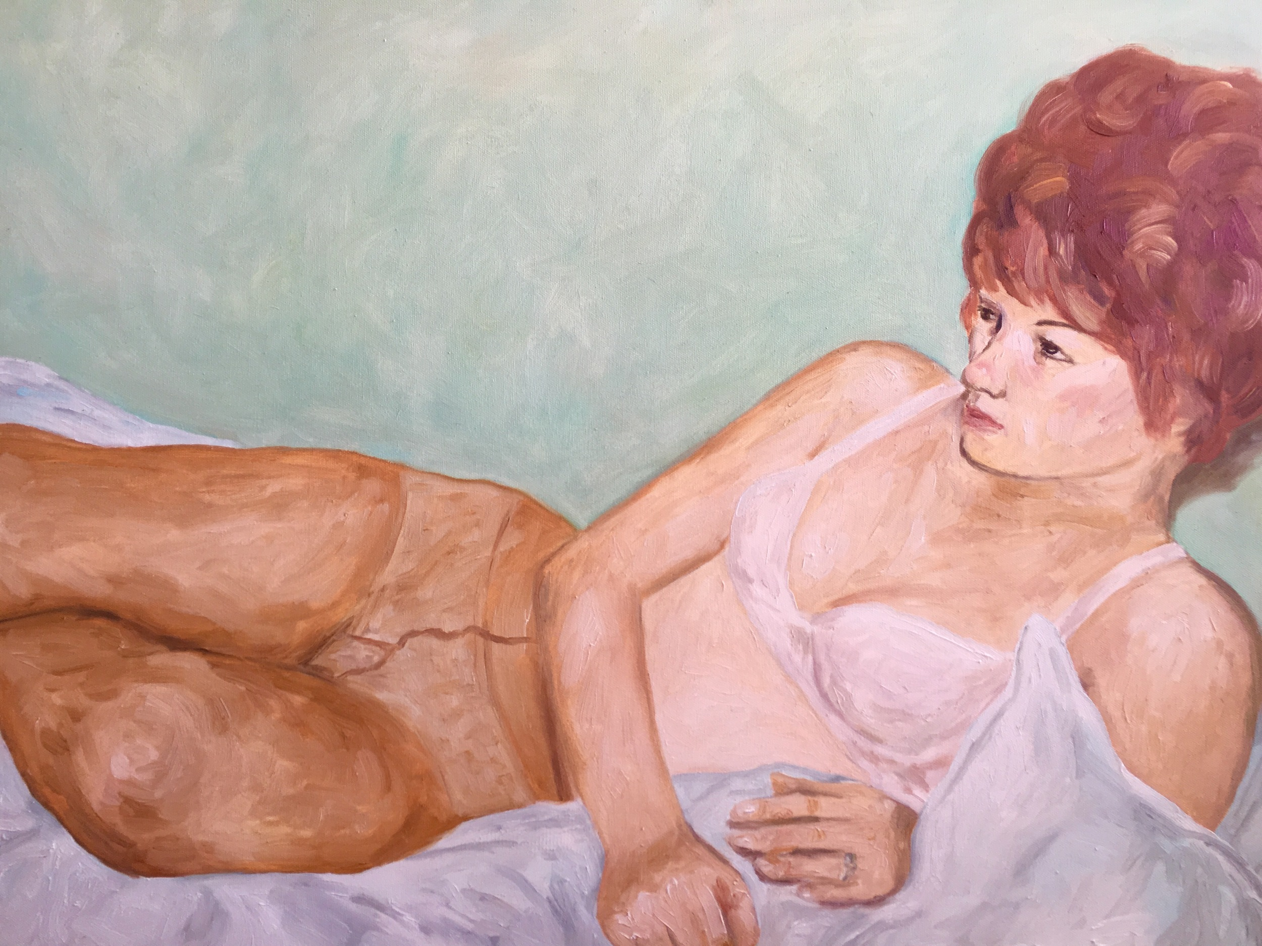 """Margret; odalisque, 24""""x30"""" oil on canvas"""