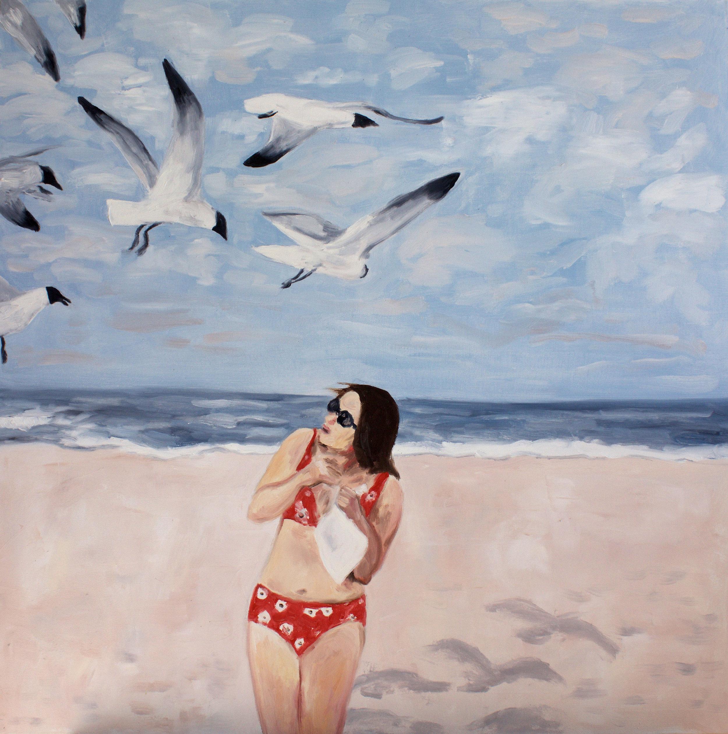 seagulls, 24 x 24