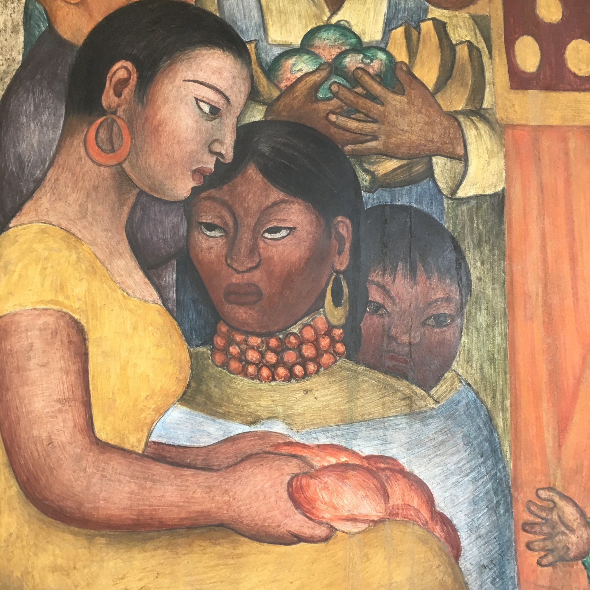 diego rivera mural detail