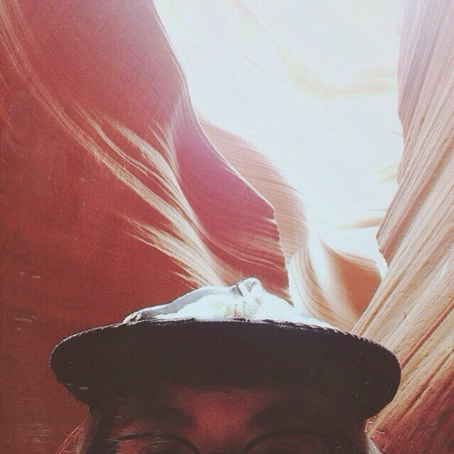 Antelope canyon✌🏼️ #vsco #vscocam #selfie #ontheroad
