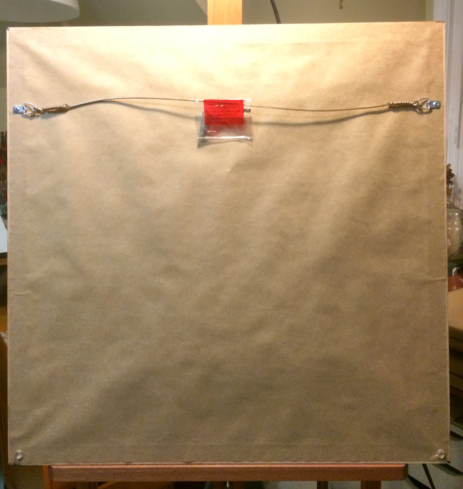 Sealed, wired, ready to hang.