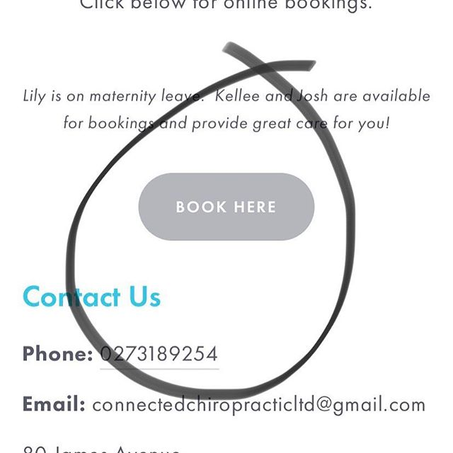 Online bookings are working again! ⠀⠀⠀⠀⠀⠀⠀⠀⠀ 👉 www.connectedchiropractic.co.nz ... ... ... #planoly #chiropractic #connectedchiropractic #onlinebookings #easy #efficient