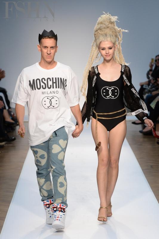 Moschino SS15: Jeremy Scott (left)