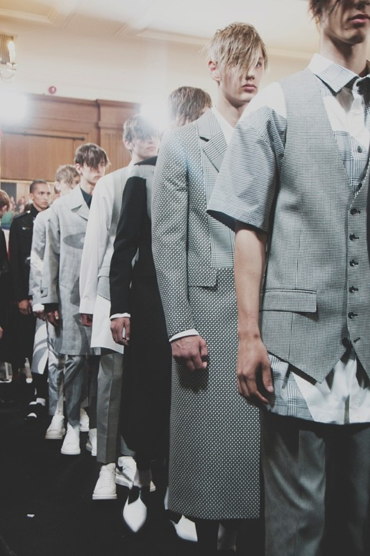 Backstage at Alexander Mcqueen SS15 ( source )