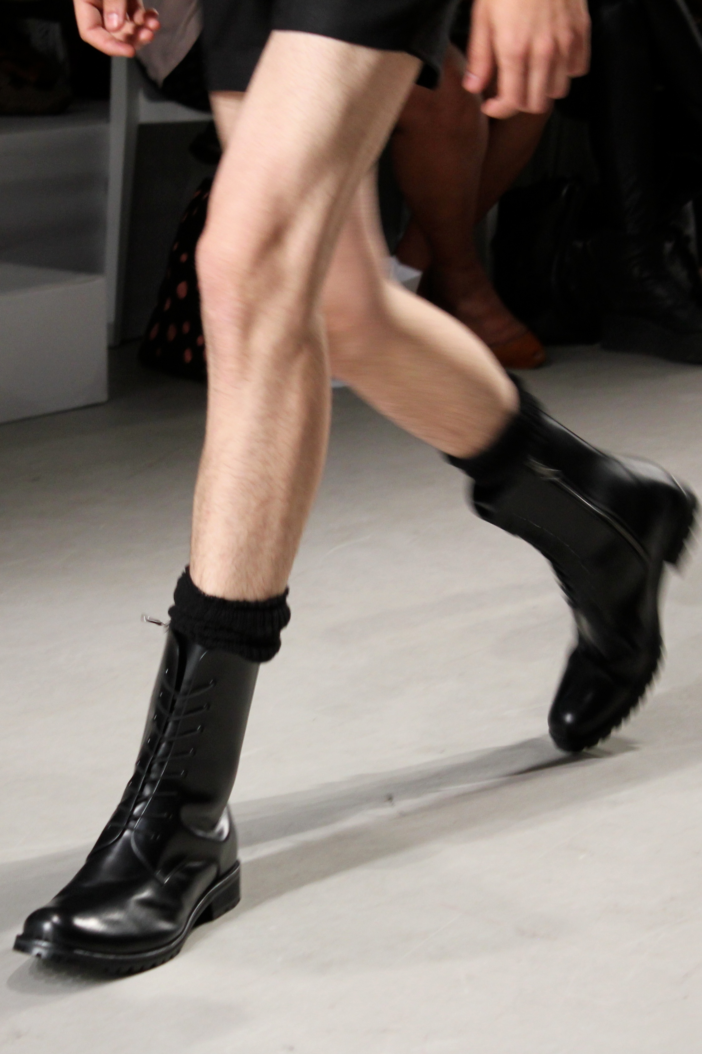 Black military-style boots