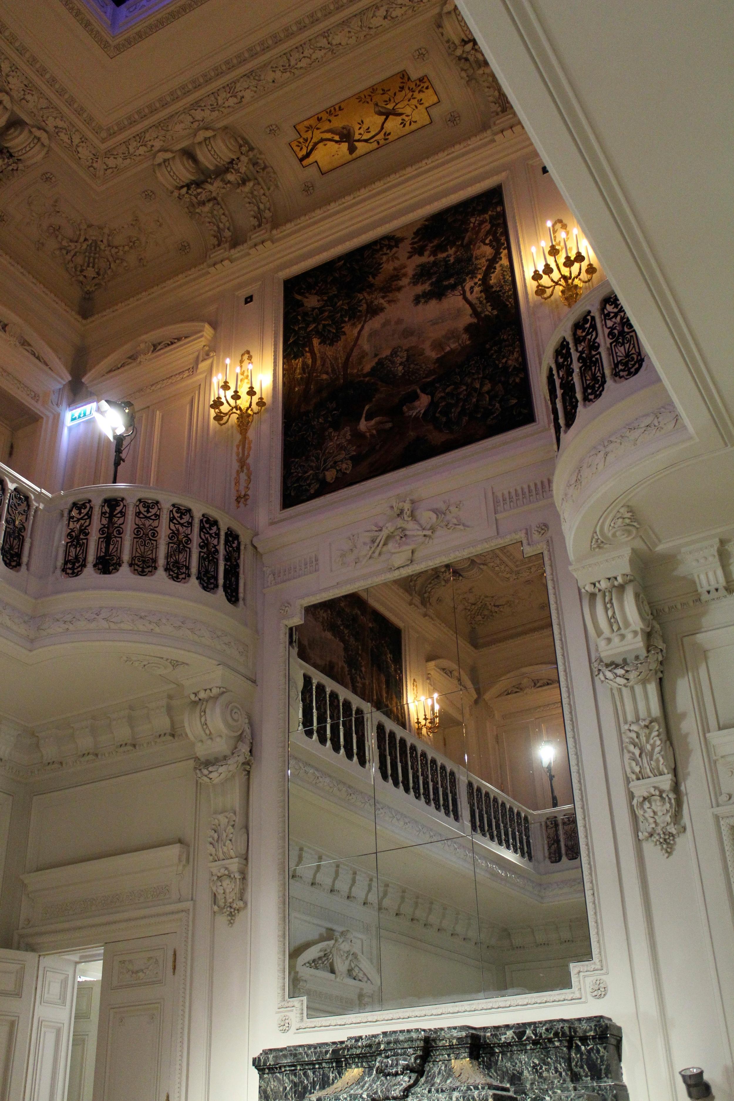 The show took place at the very grand  Hôtel Salomon de Rothschild in Paris
