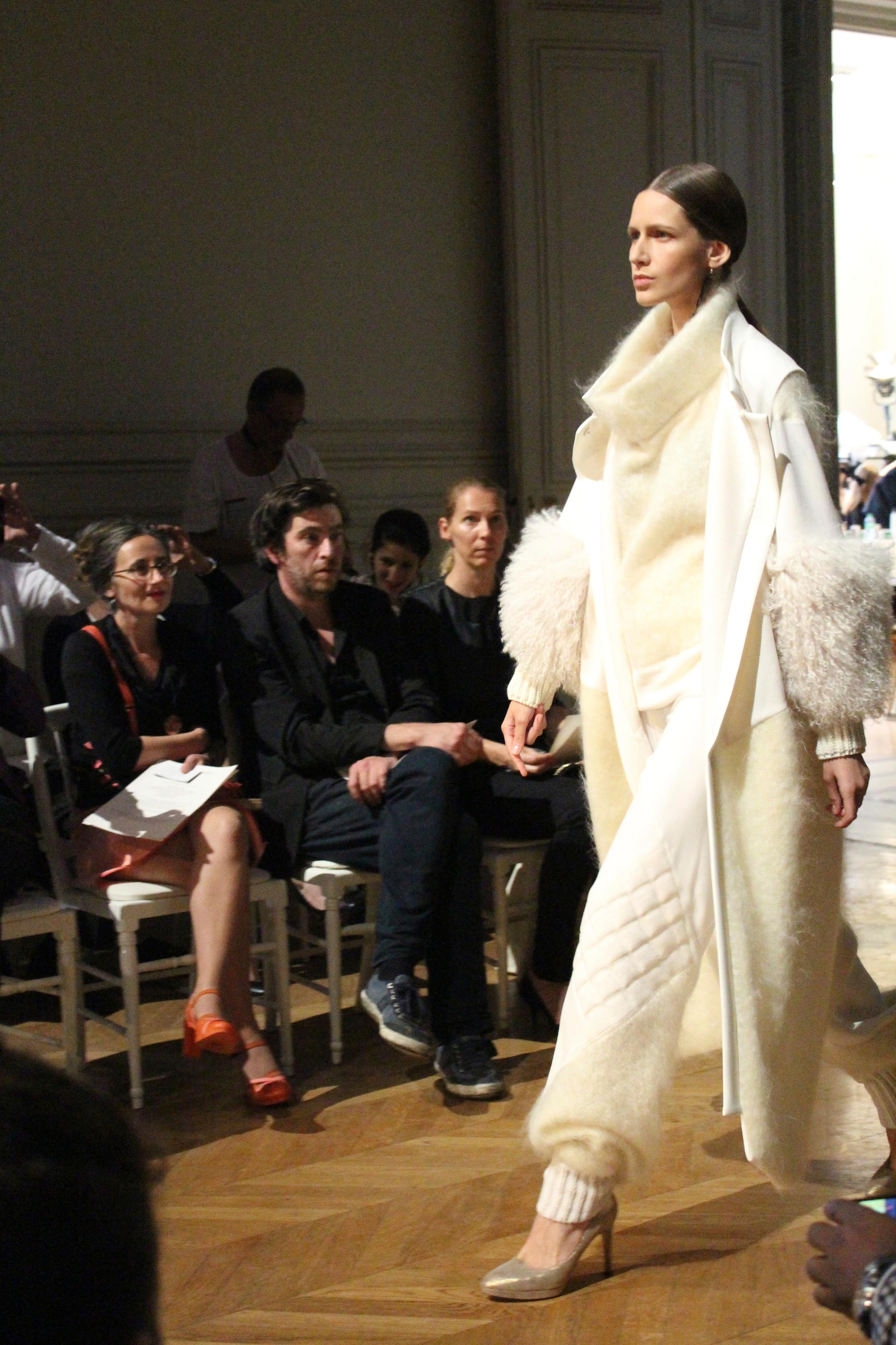 All-white ensemble