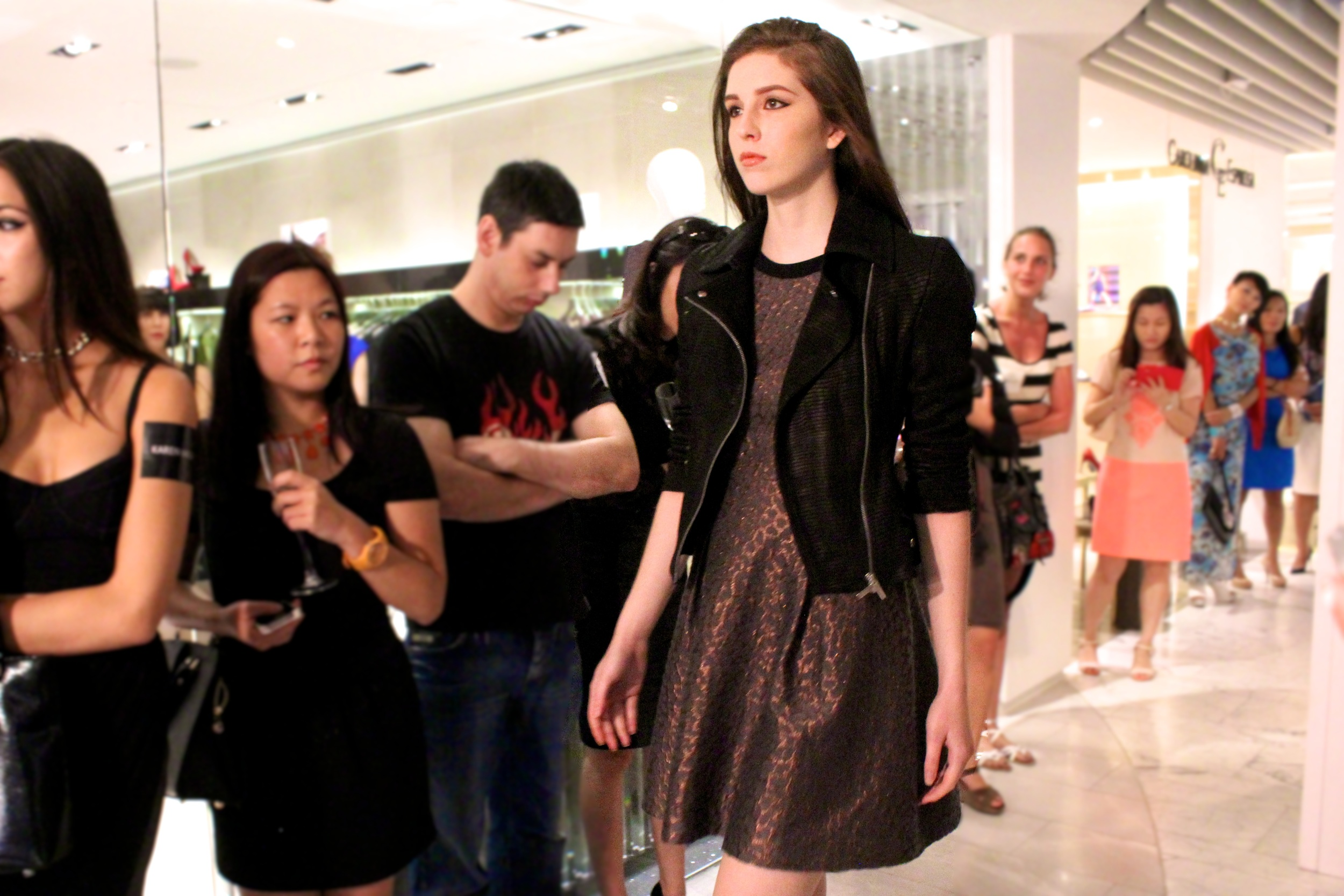 Dress:  Metallic jacquard dress