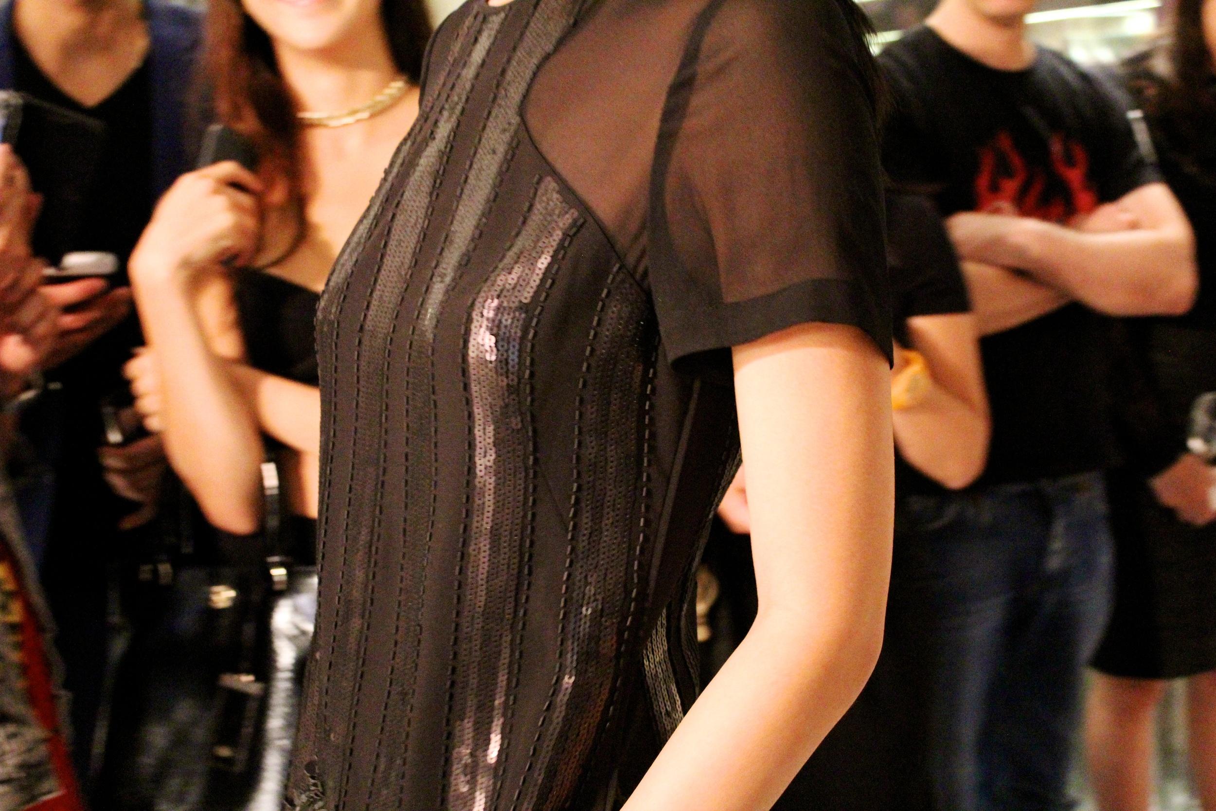Dress:   Sequin stripe dress