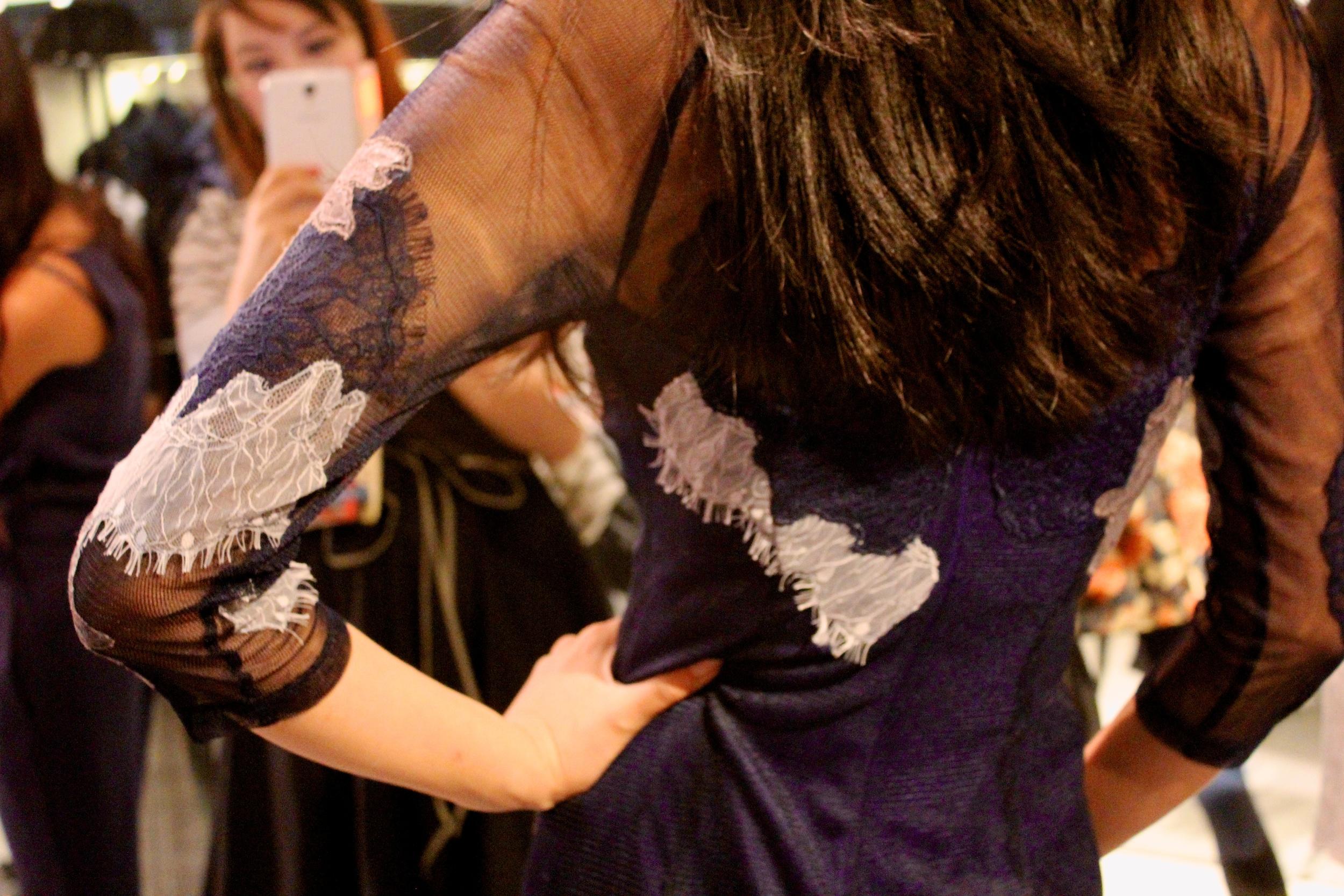 Dress:  Lace embroidery dress
