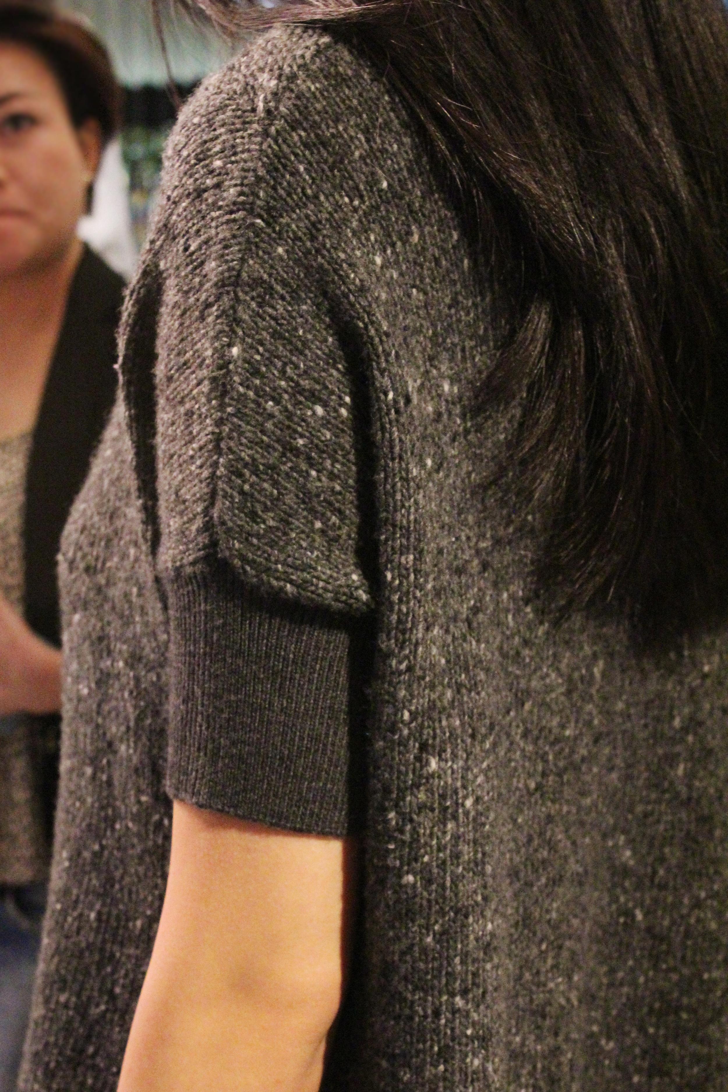 Knitwear:  Tweed tunic